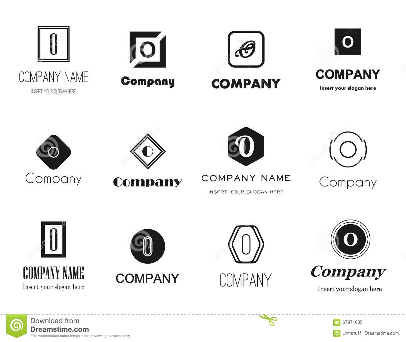 vector letter o logos icons stock vector illustration of