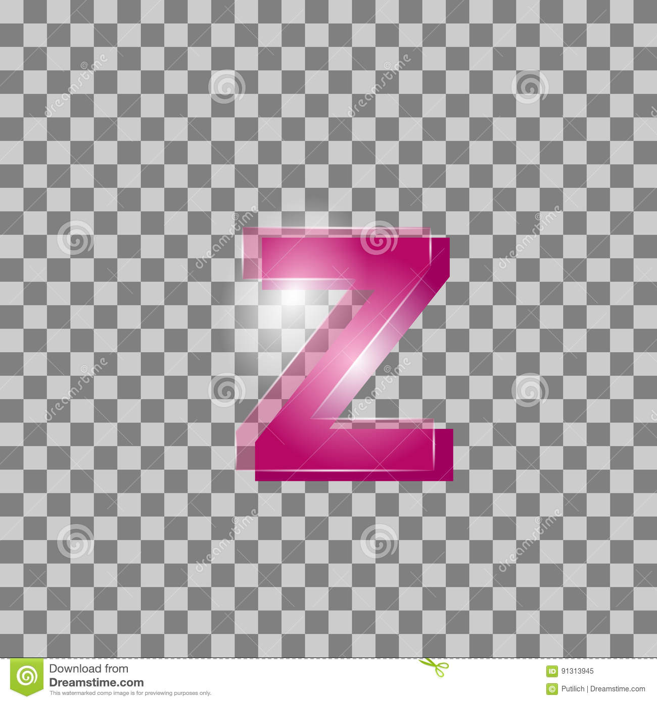 Vector. Letters Are Pink In Color But Background. Can B Stock ...