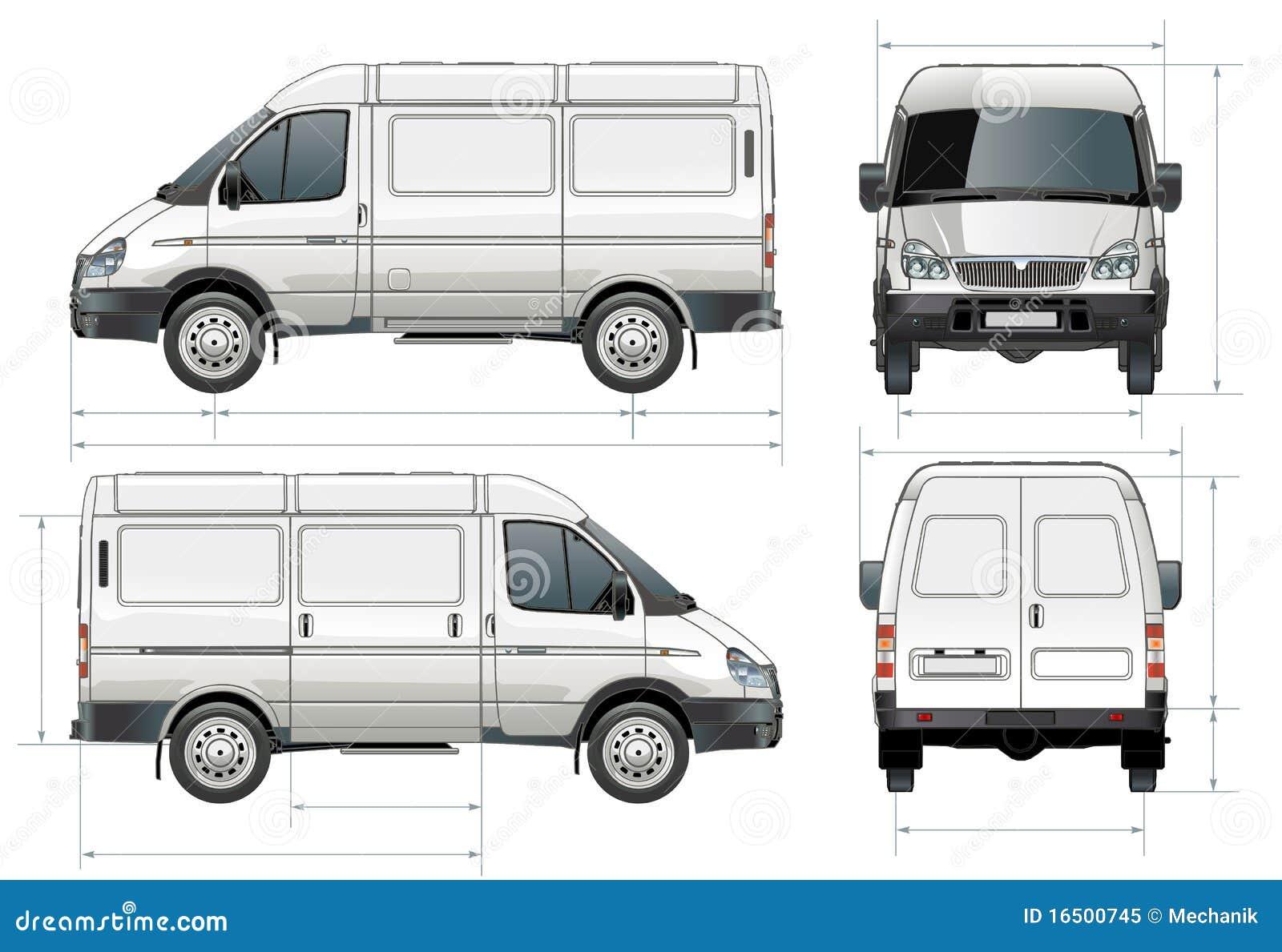 Vector levering/ladingsbestelwagen