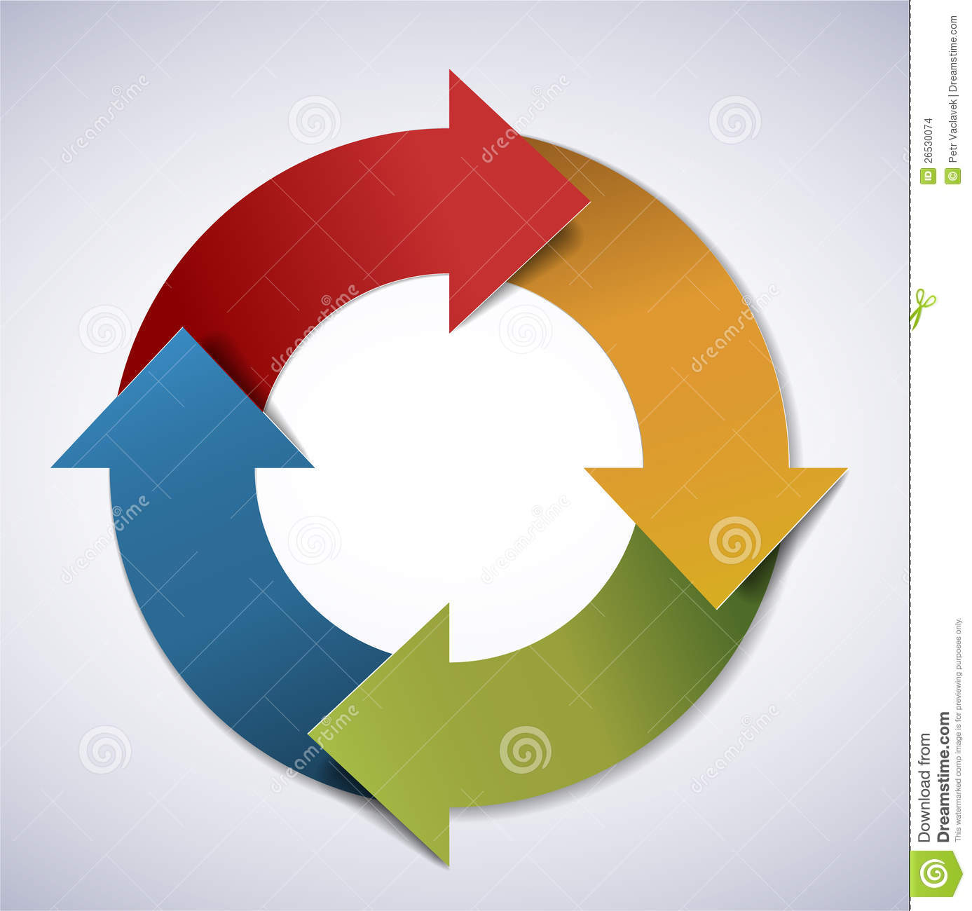 Vector Life Cycle Diagram Stock Images
