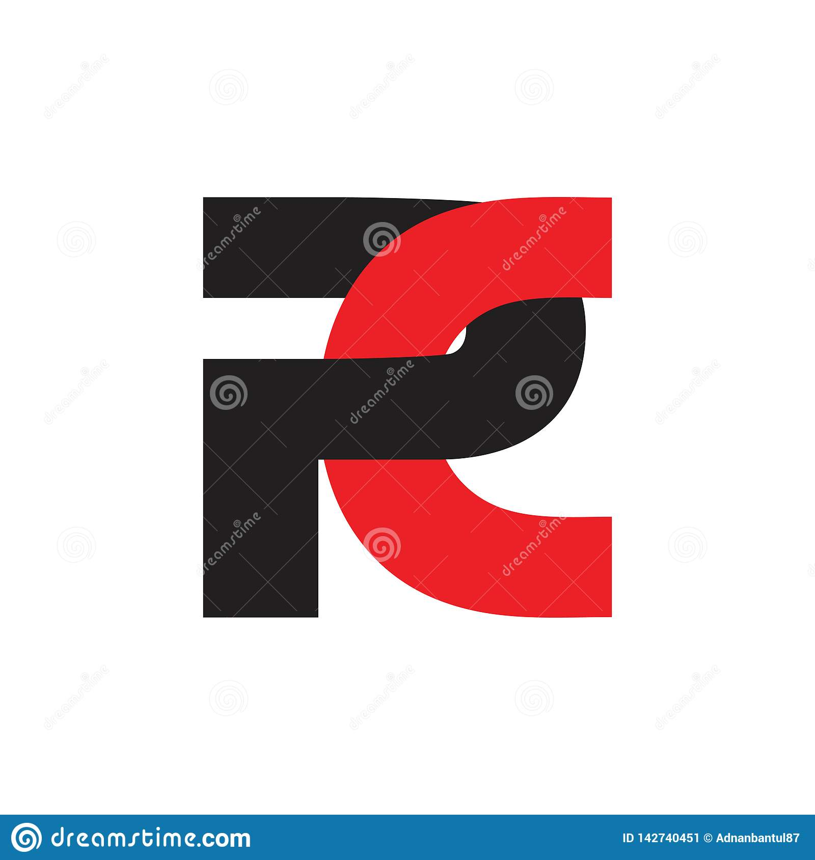 Vector ligado simple del logotipo de la PC abstracta de las letras