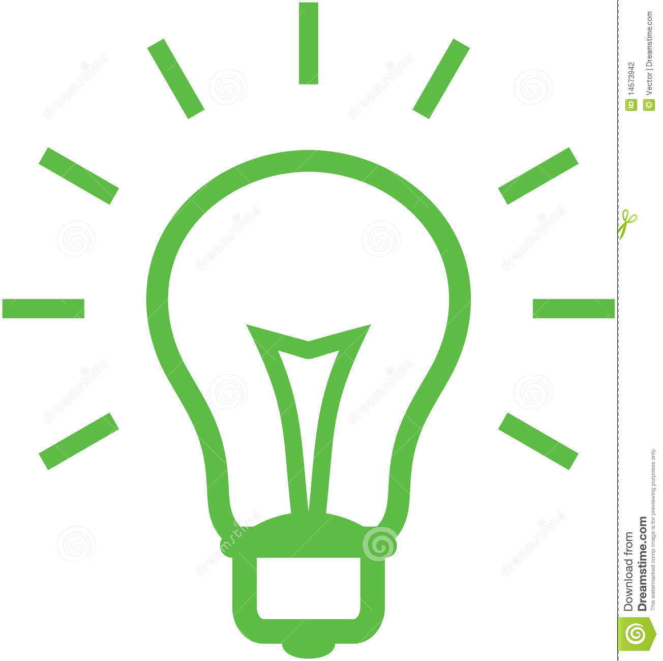 Vector Light Bulb Illustration Stock Photography Image