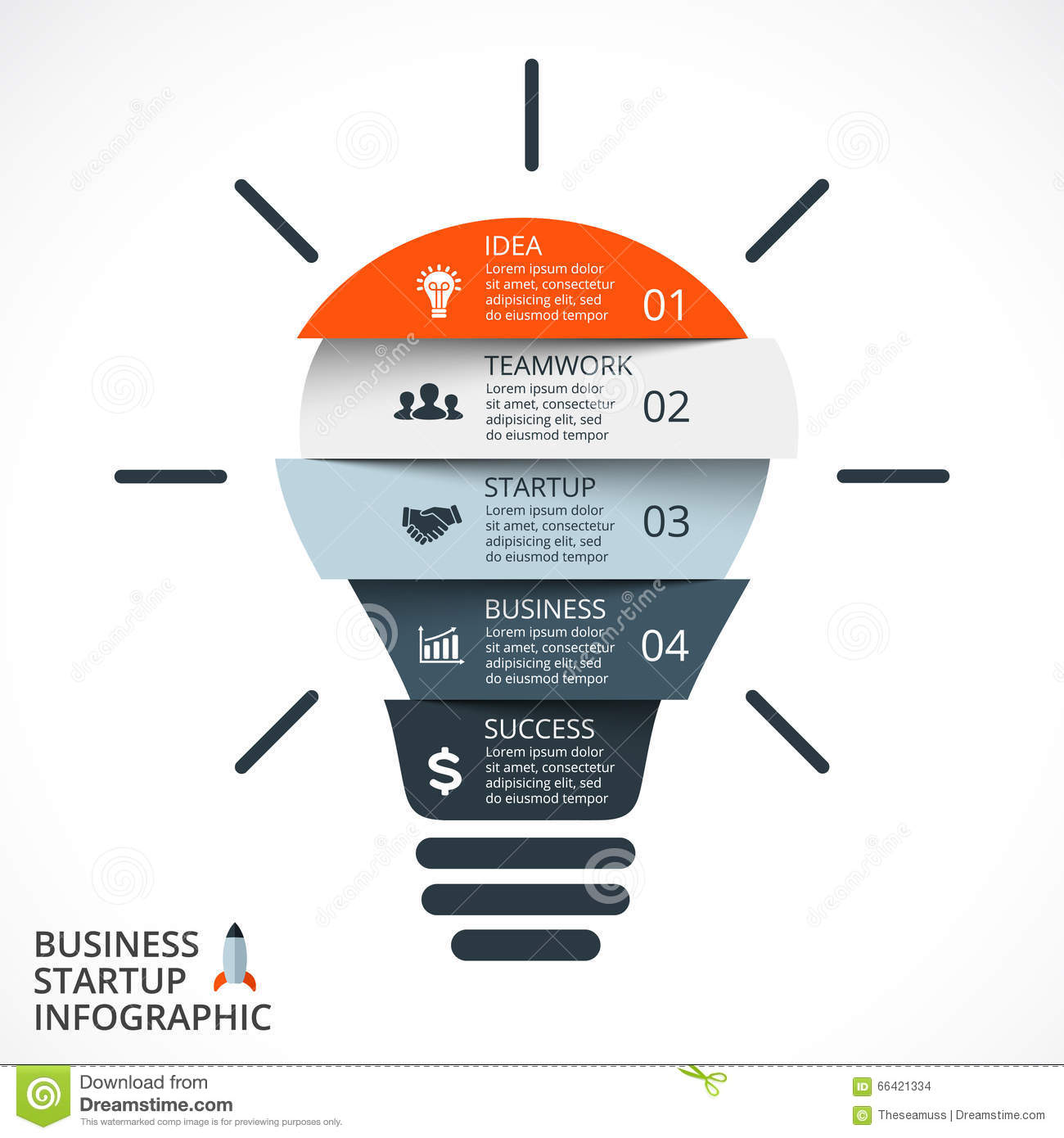 Light Bulb Infographic. Template For Circle Diagram, Graph ...