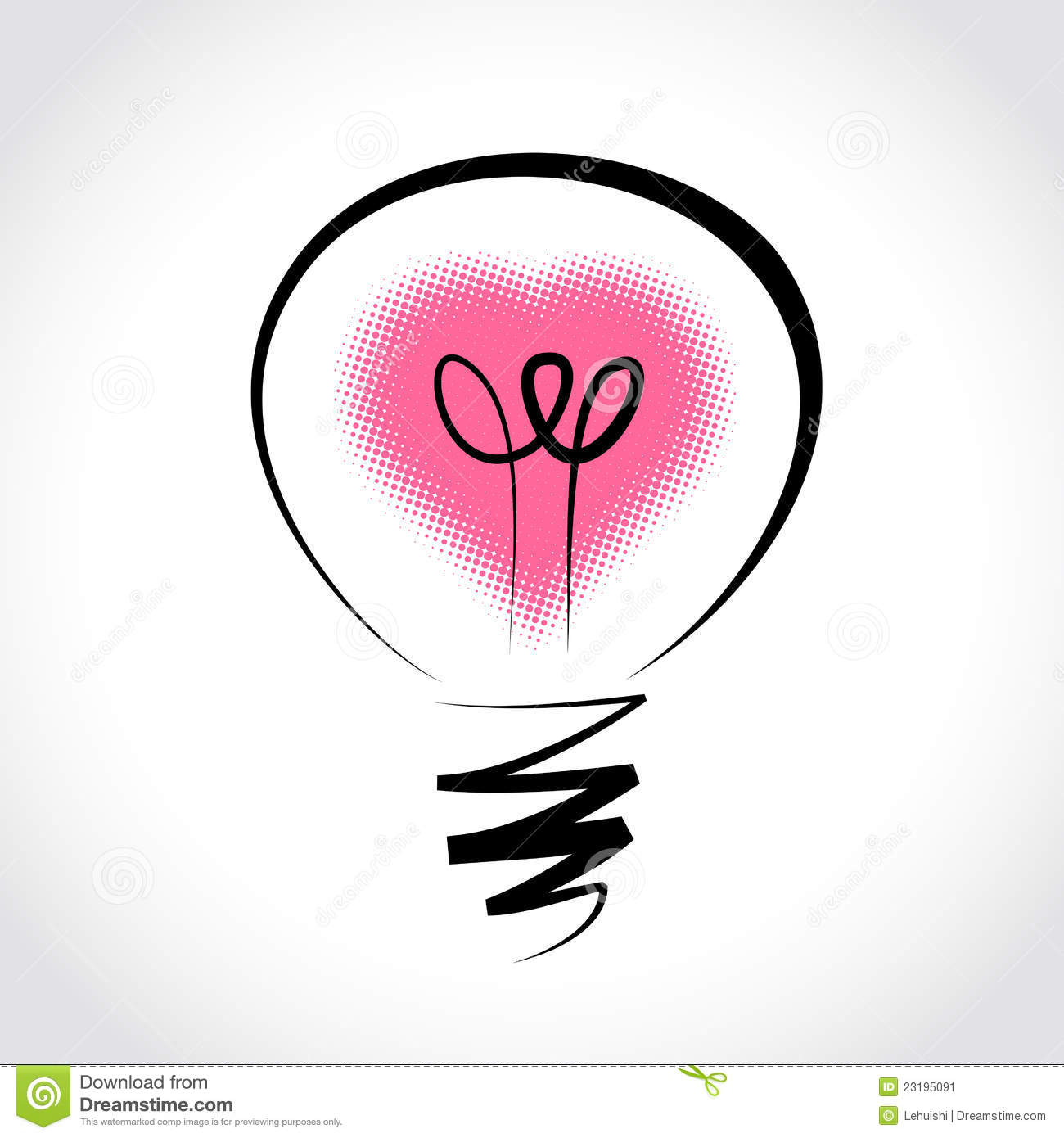 Vector Light Bulb Symbol Of Heart Stock Image Image 23195091