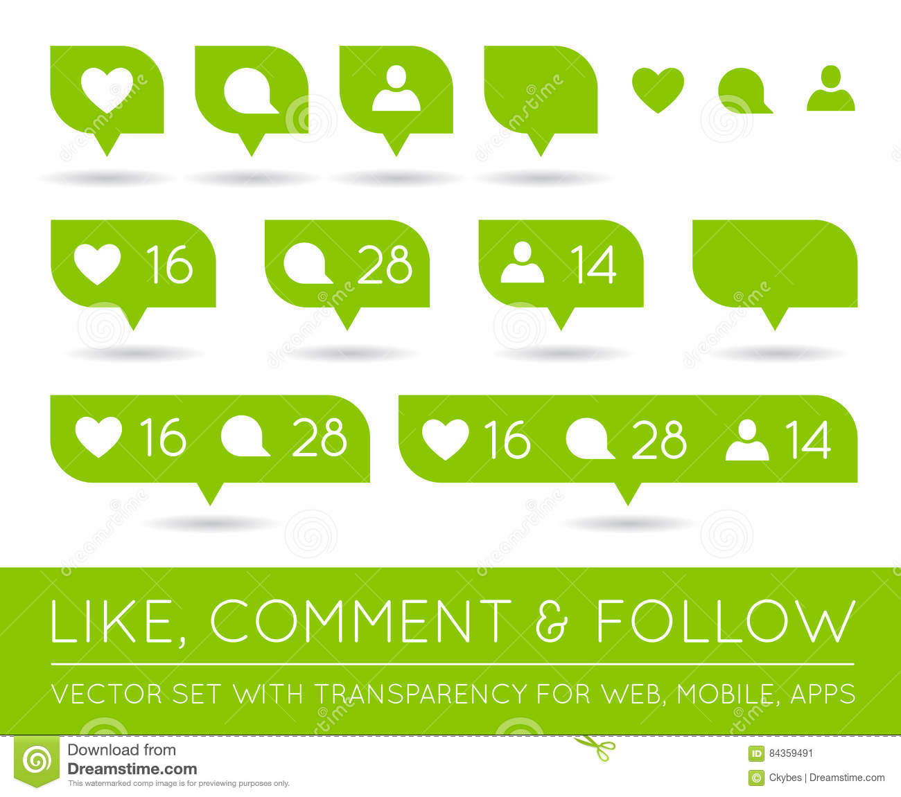 Like, Comment, Follower Icon. Vector Illustration ...