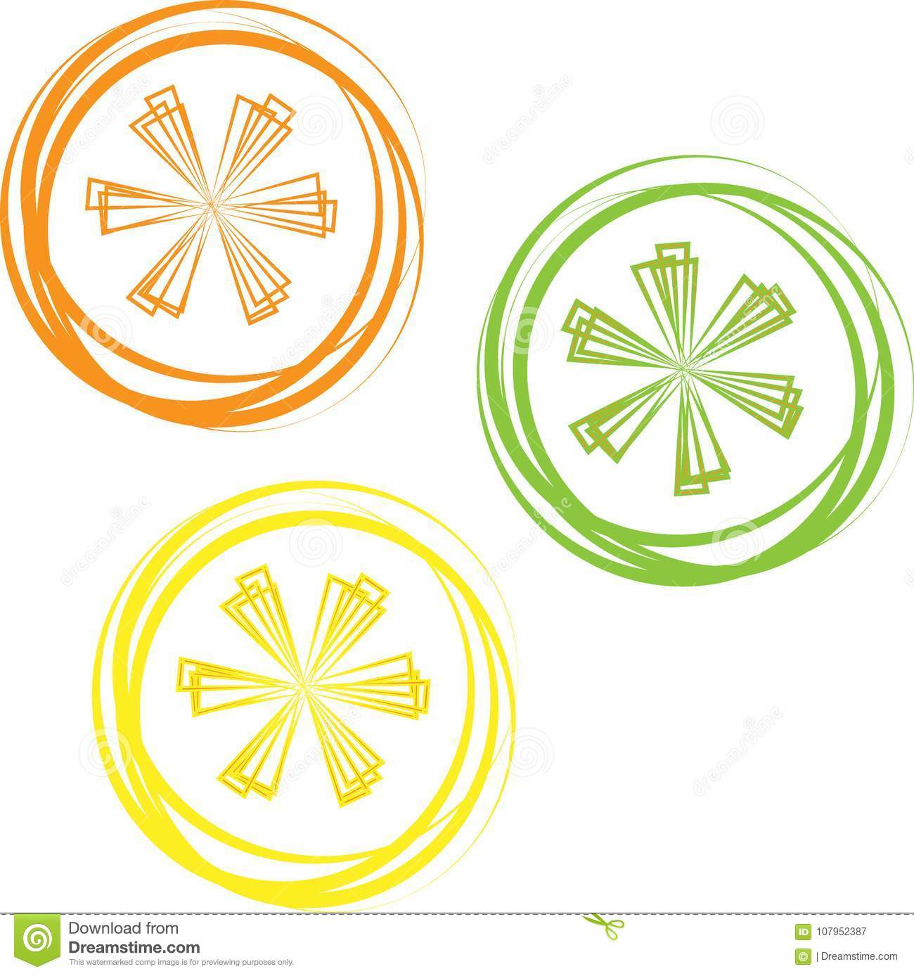 Vector Lime Lemon Grapefruit And Orange Slices Isolated On White