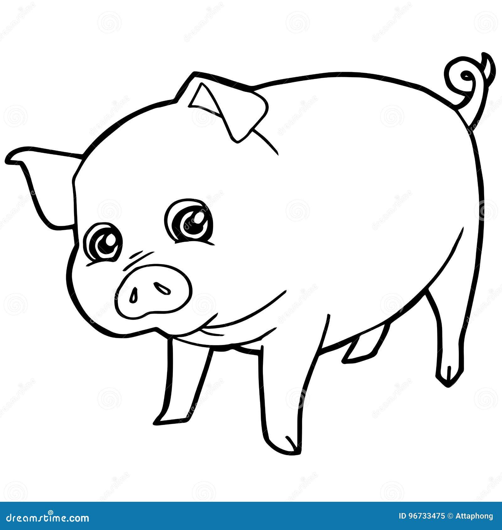 Bonito Cerdos Colorantes Colección - Dibujos Para Colorear En Línea ...