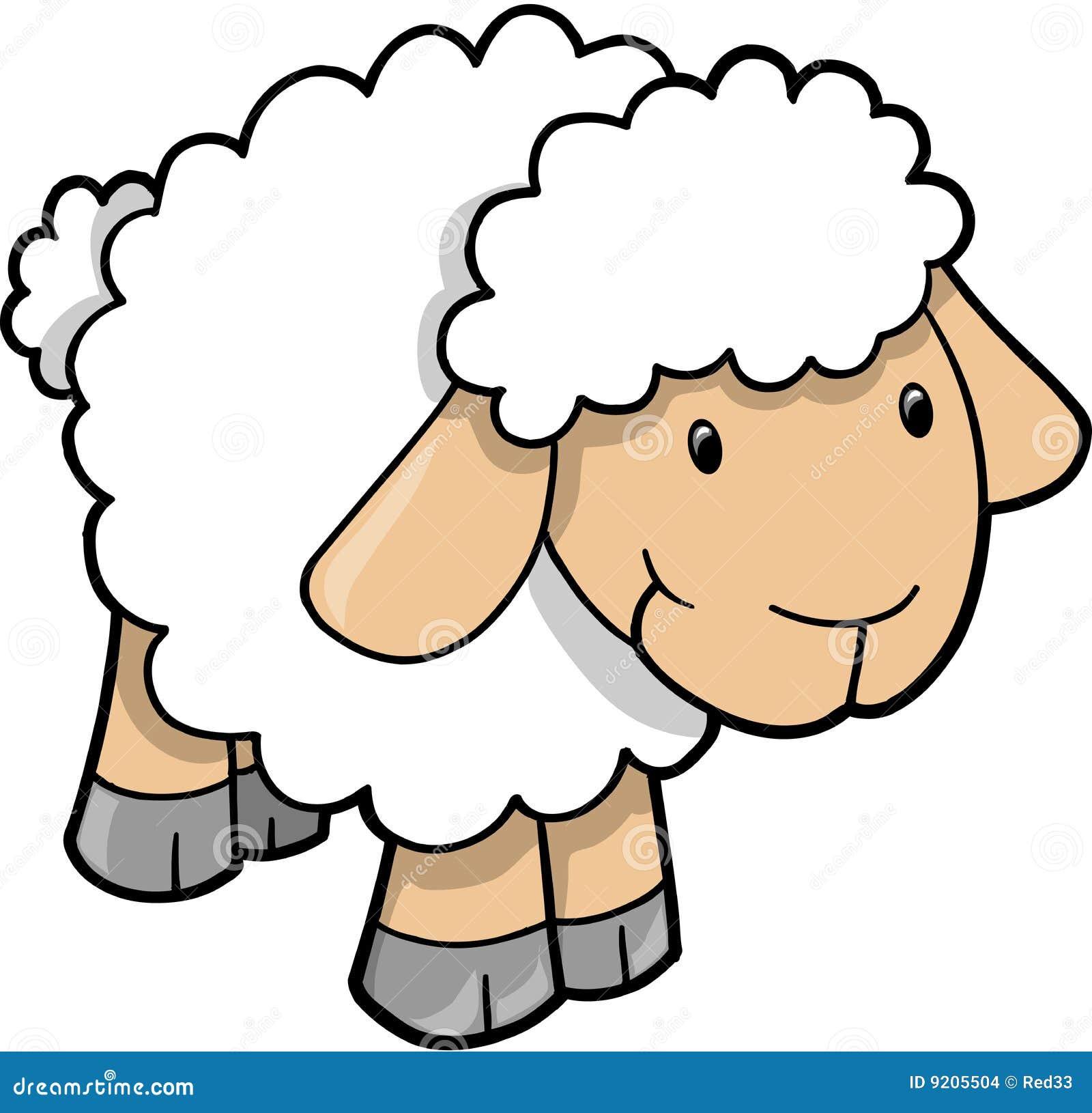 Vector lindo del cordero de las ovejas