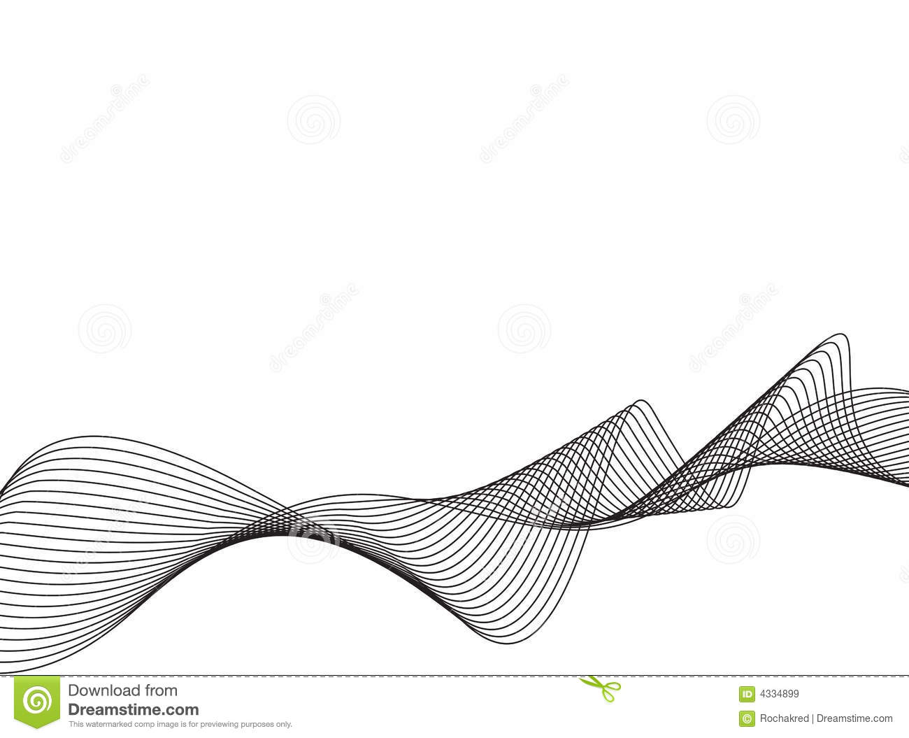 Drawing Vector Lines : Vector line art waves stock illustration of retro