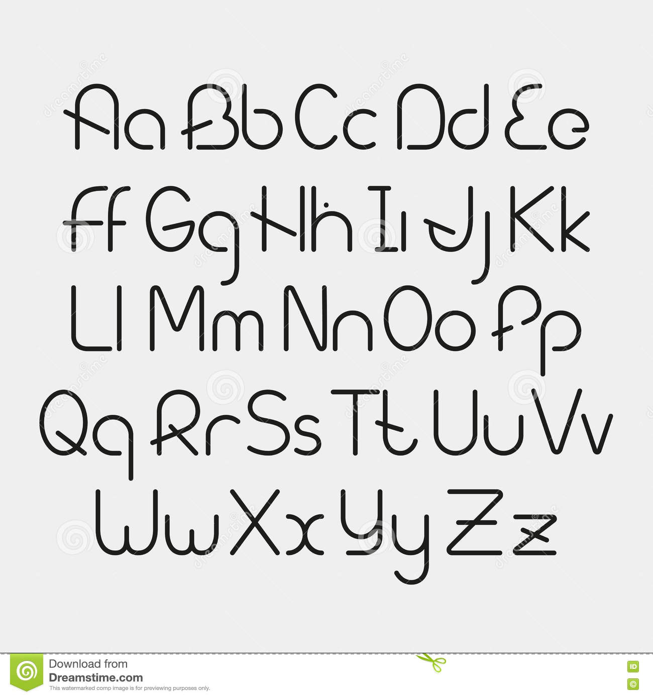 Vector Linear Font