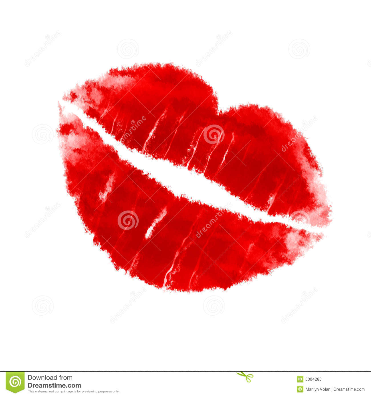 Vector Lipstick Kiss stock vector. Image of cosmetics ...