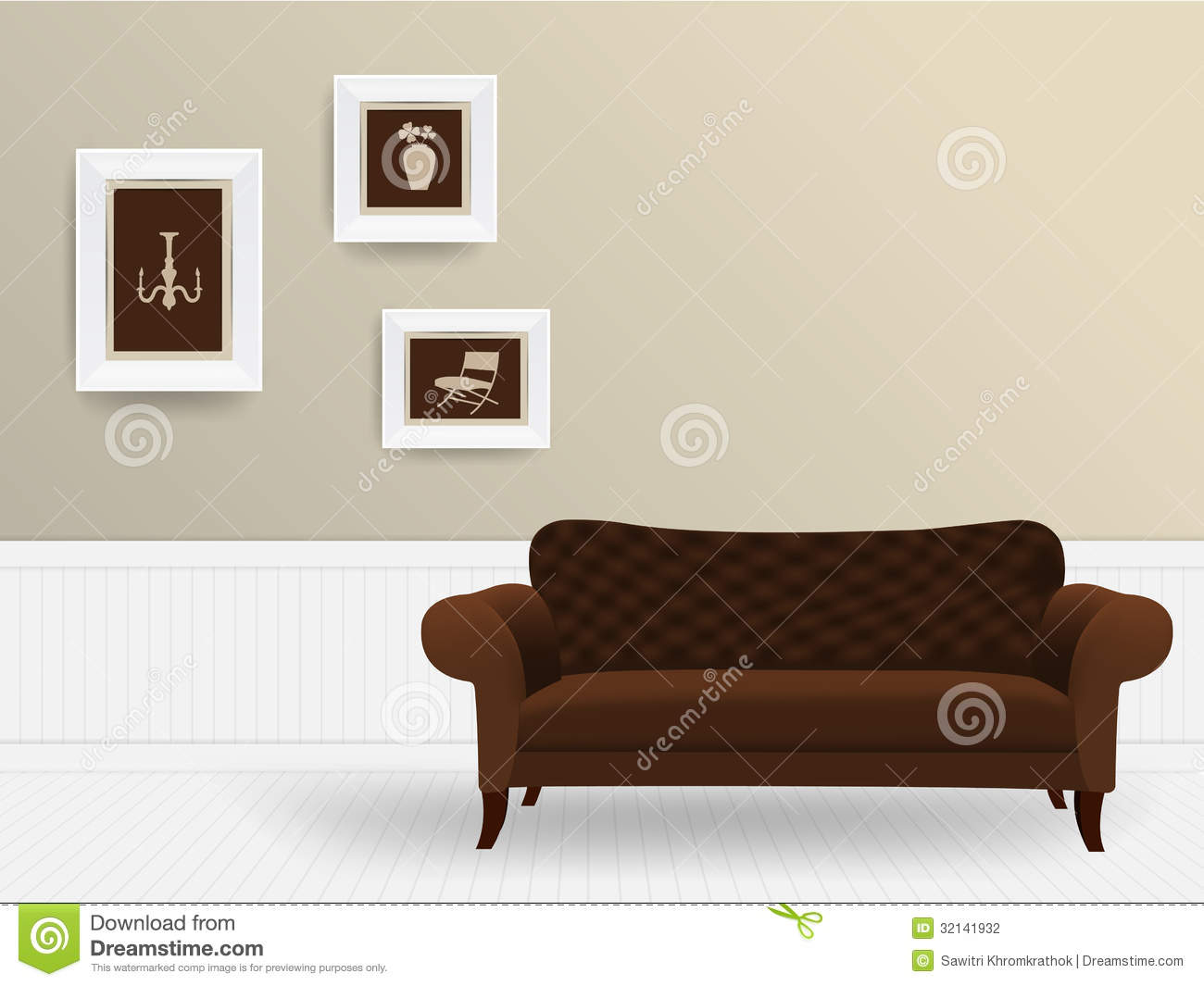 Vector living room interior concept stock photography for Room design vector