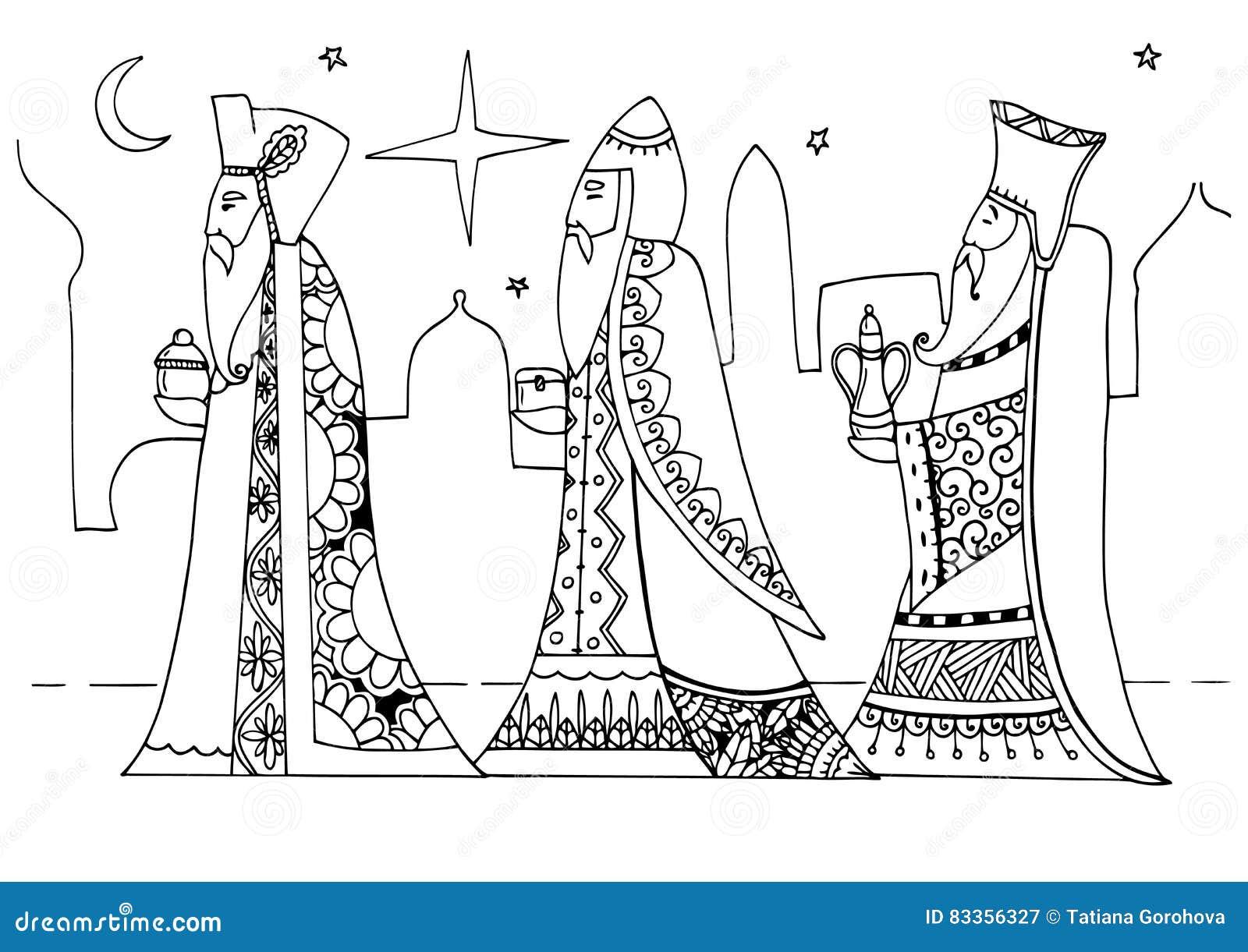 Vector Lo Zentagl Dell Illustrazione Il Re Magi Sono Regali Al