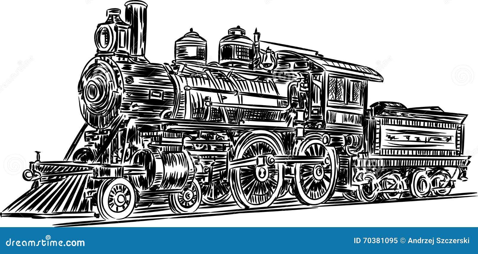 Vector-locomotive stock vector. Illustration of graphic ...