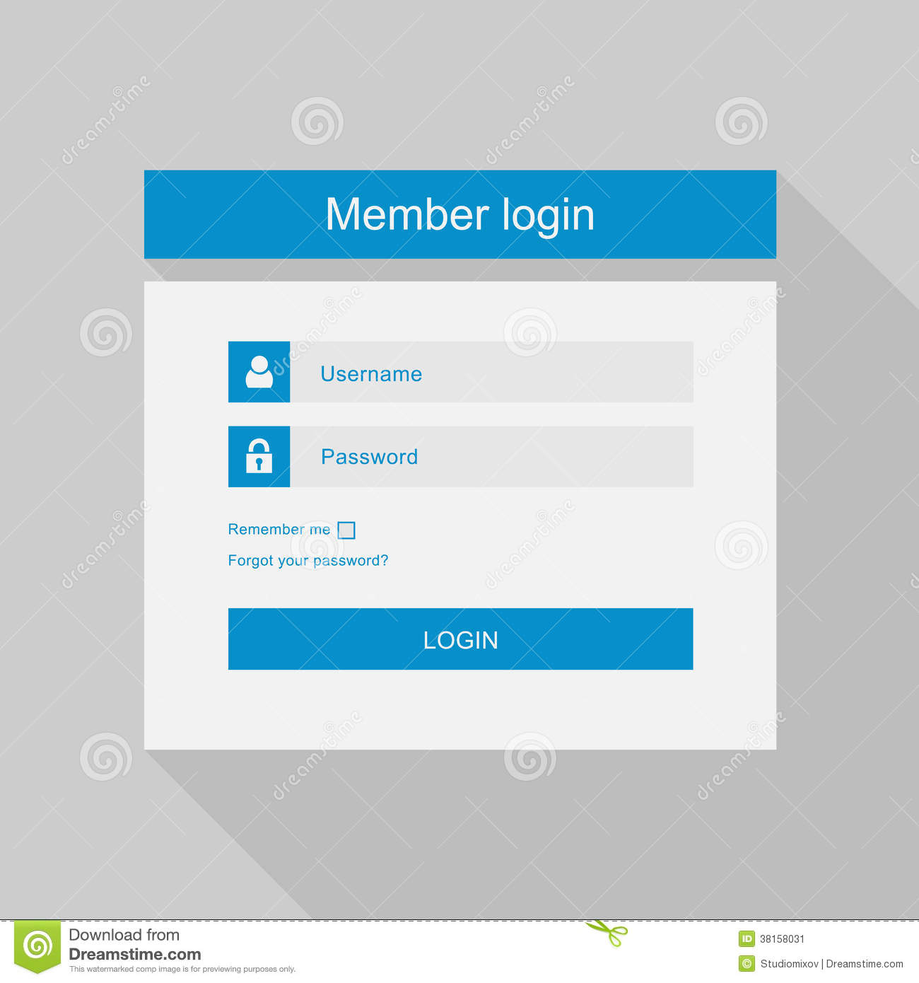 Login website screen stock images image 27209274 - Vector Login Interface Username And Password Fl Stock Image Image