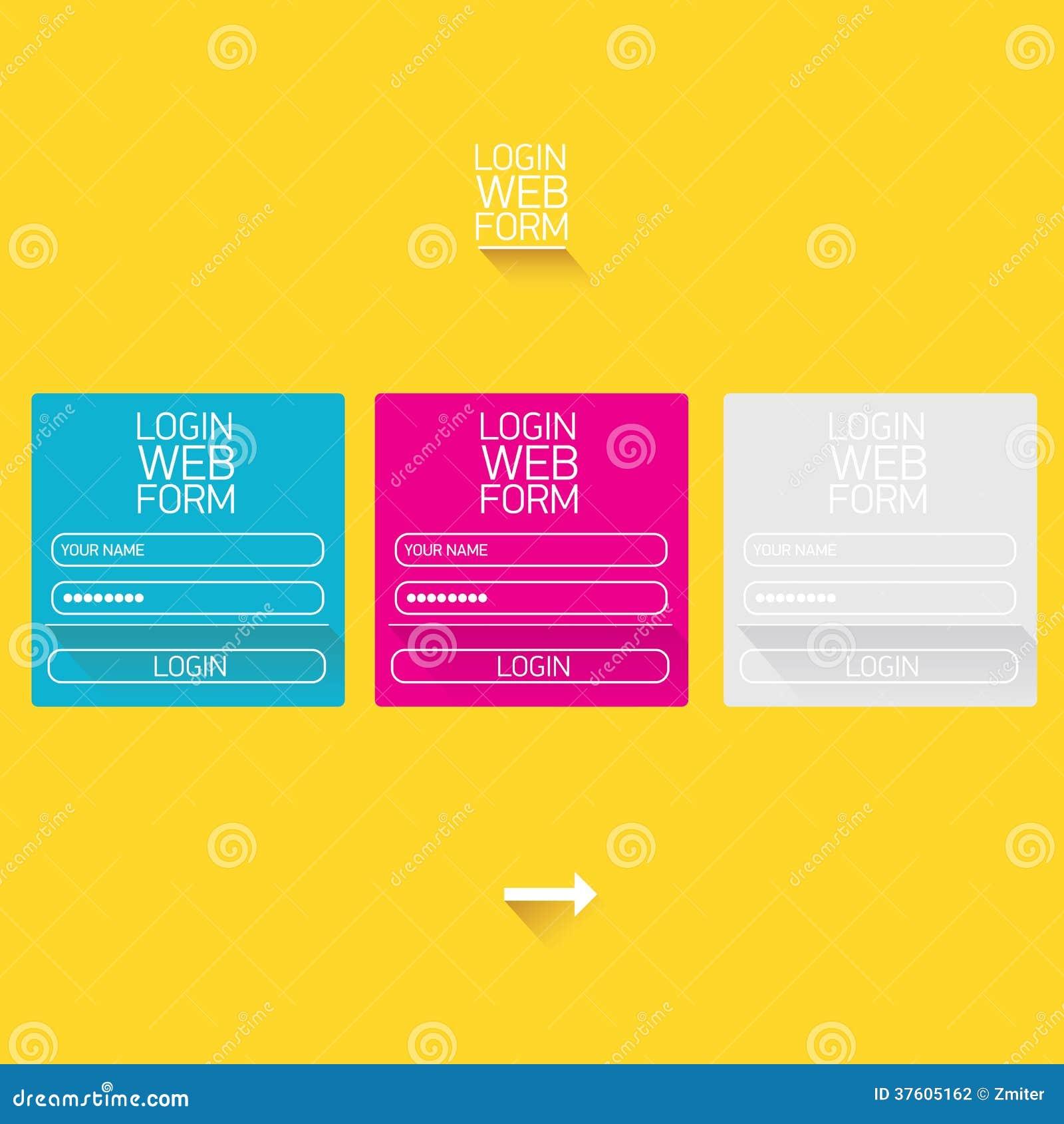 vector login website template flat design stock photography image 37605162. Black Bedroom Furniture Sets. Home Design Ideas