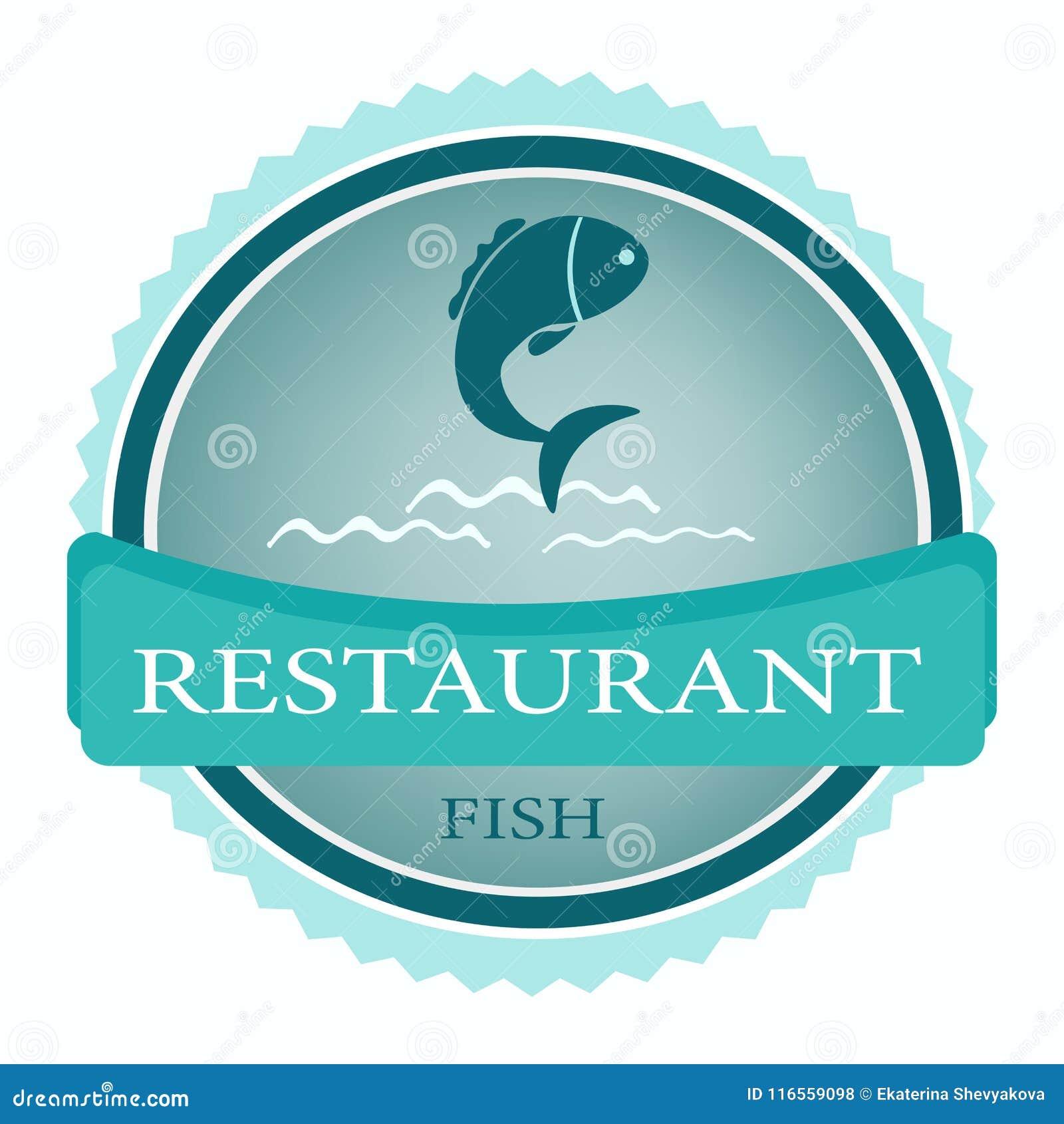 Vector Logo Banner For Advertising Restaurant Name Blue Stock Vector Illustration Of Logos Water 116559098