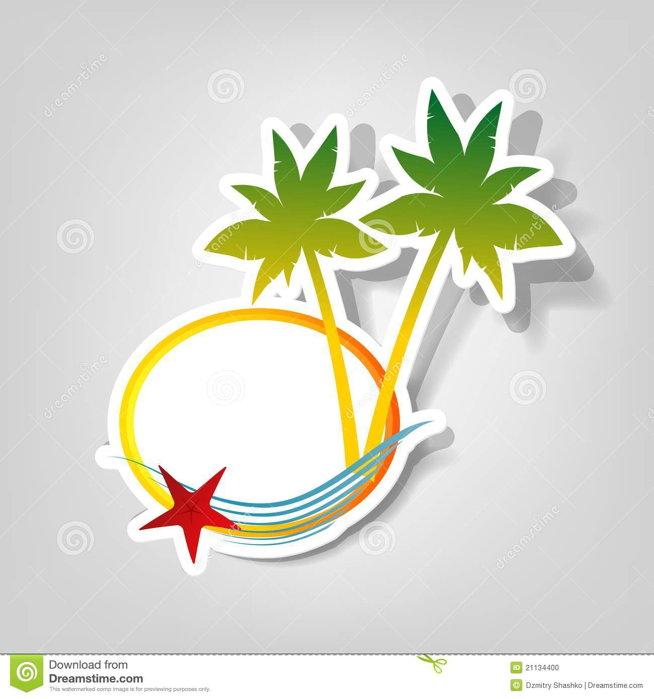 Vector Logo On A Beach Theme Stock Photo - Image: 21134400