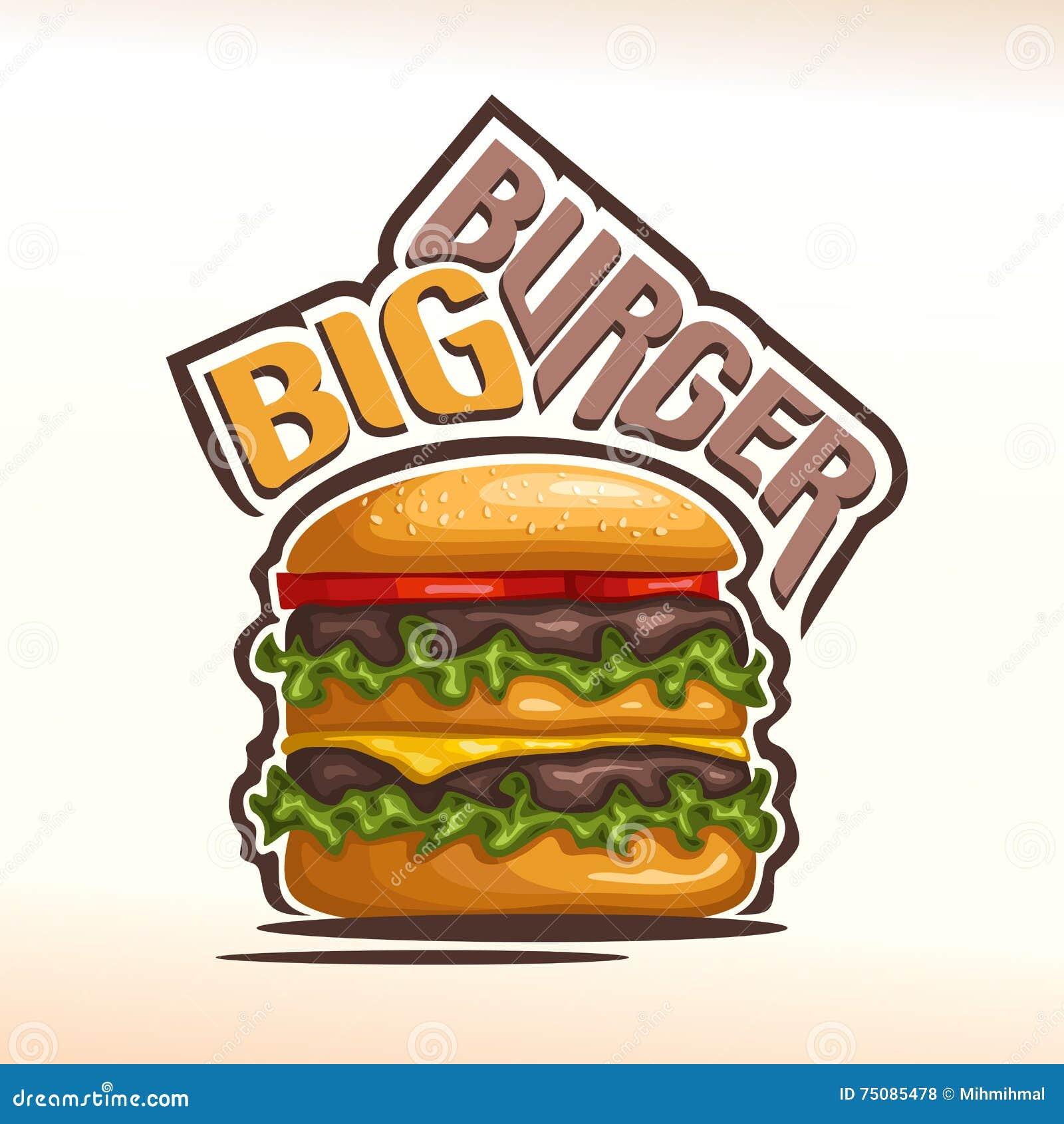 vector logo big burger stock vector image 75085478