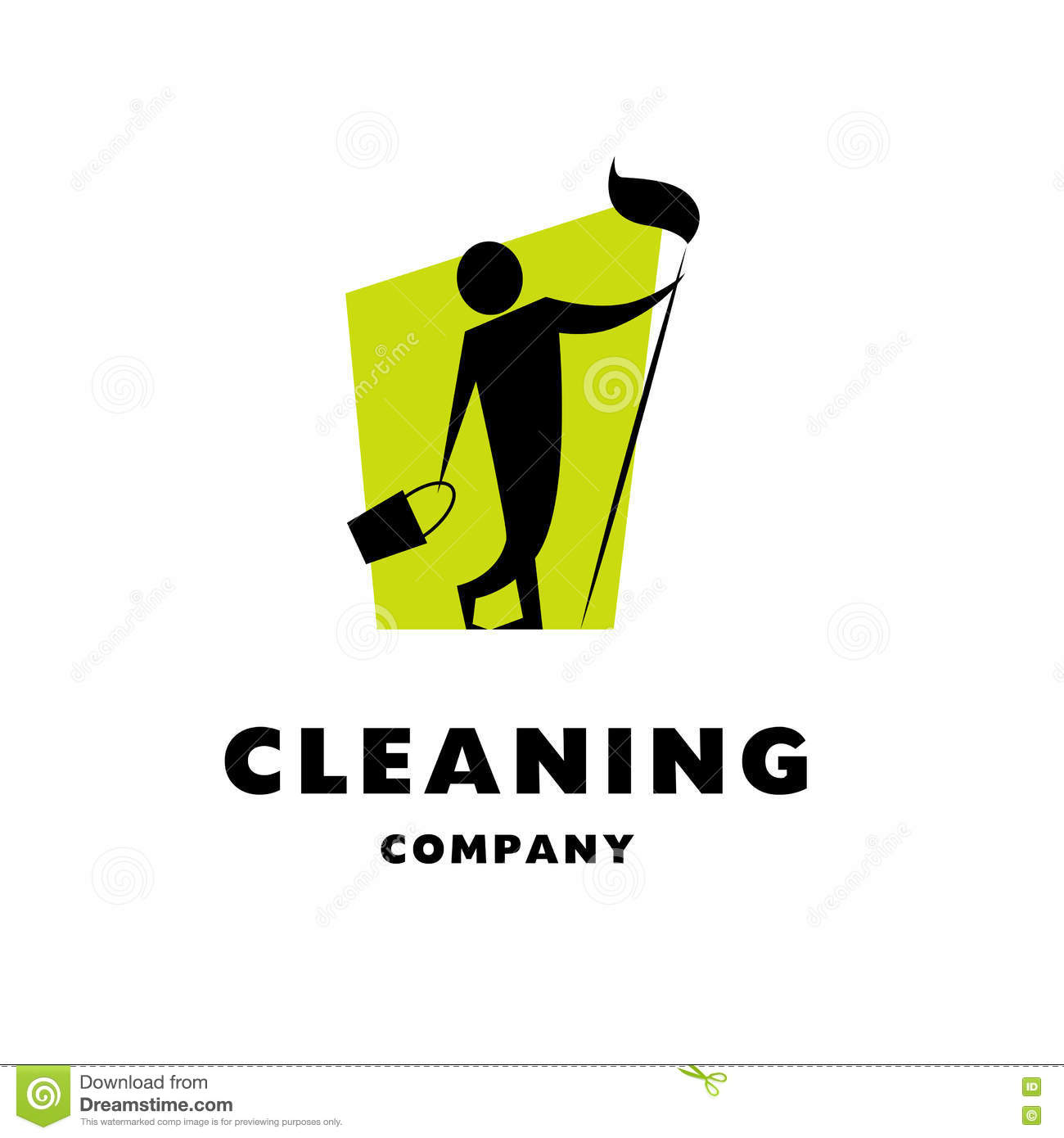 Vector logo for cleaning company.