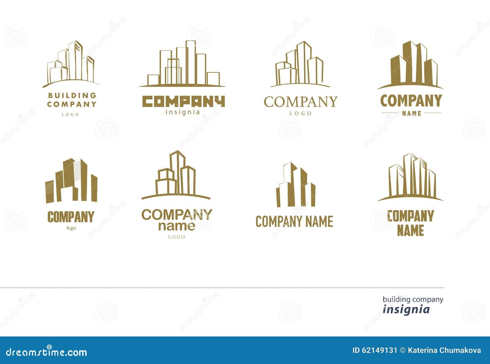 Vector Logo Collection For Urban Building Company Stock