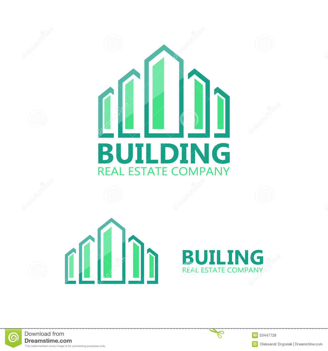 Dreams Construction Company: Vector Logo For Construction Company Stock Vector