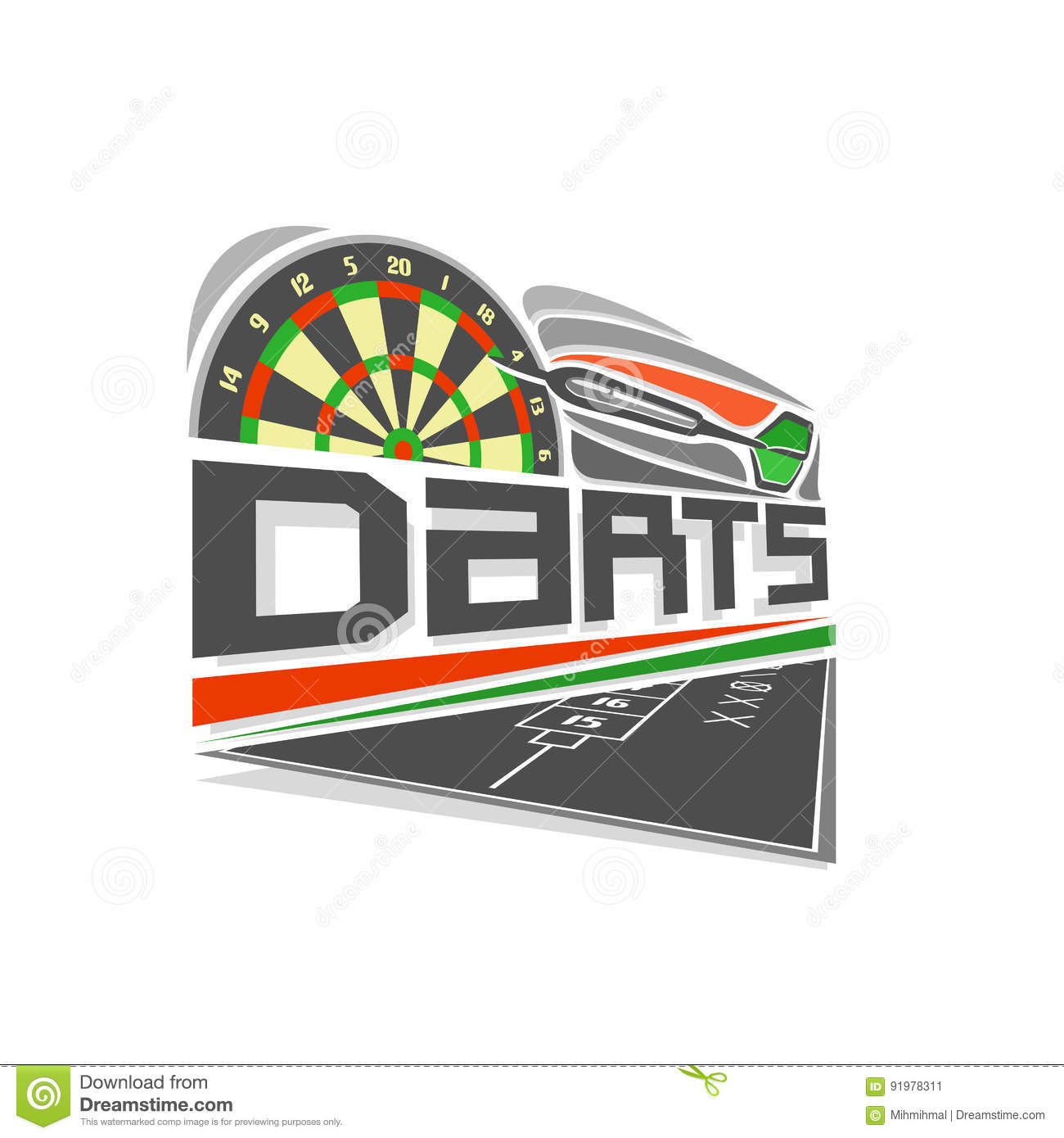 Vector Logo For Darts Game Stock Vector Illustration Of Image