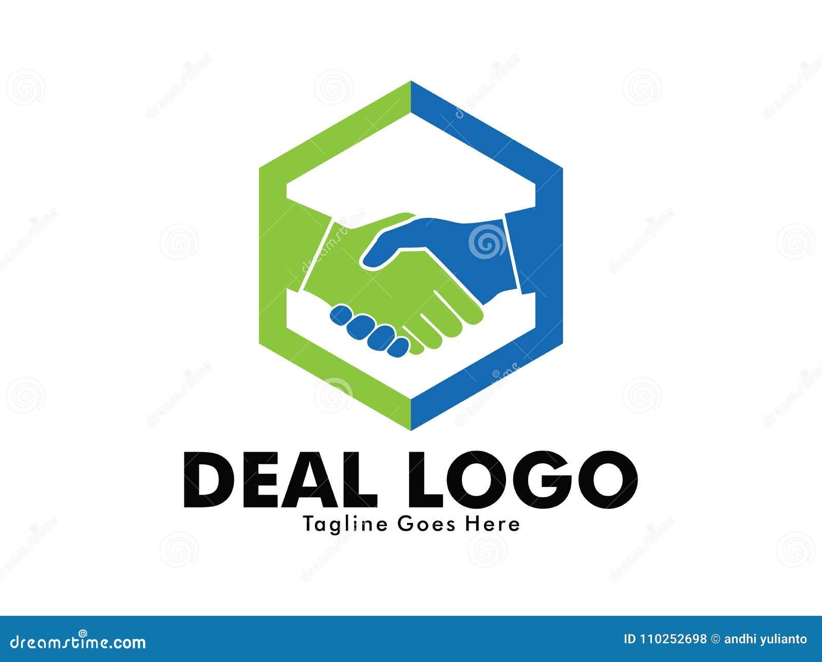 Vector Logo Design Of Deal Handshake Sign Meaning Of Friendship
