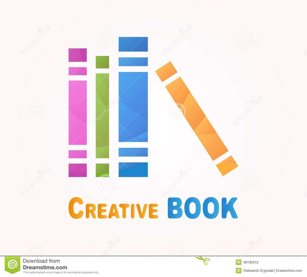 Vector Logo Design Element Book Read Library Stock