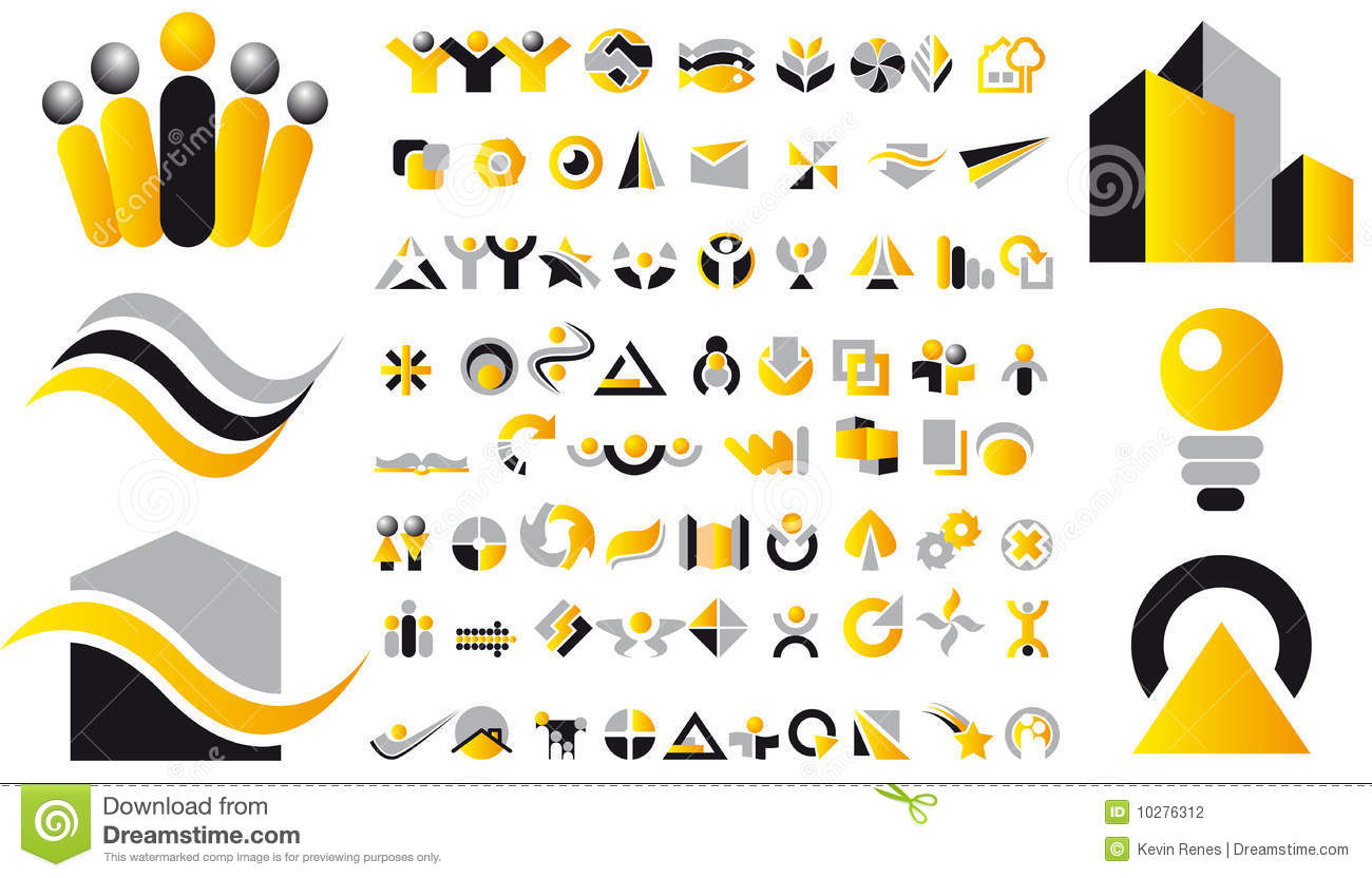 Vector Logo Designs Stock Image - Image: 5663171