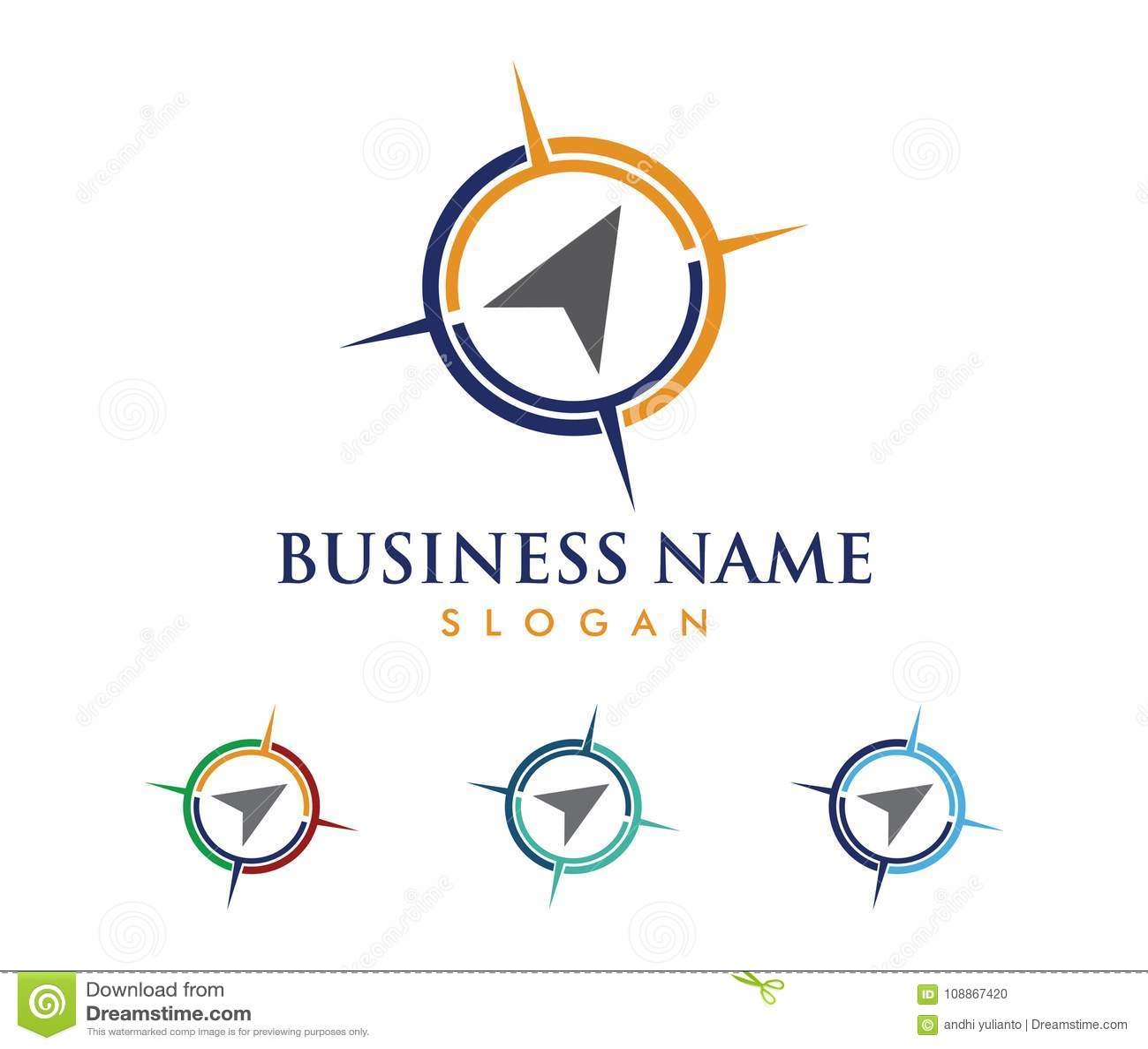 Vector Logo Design Illustration For Travel Tour Agency, Location