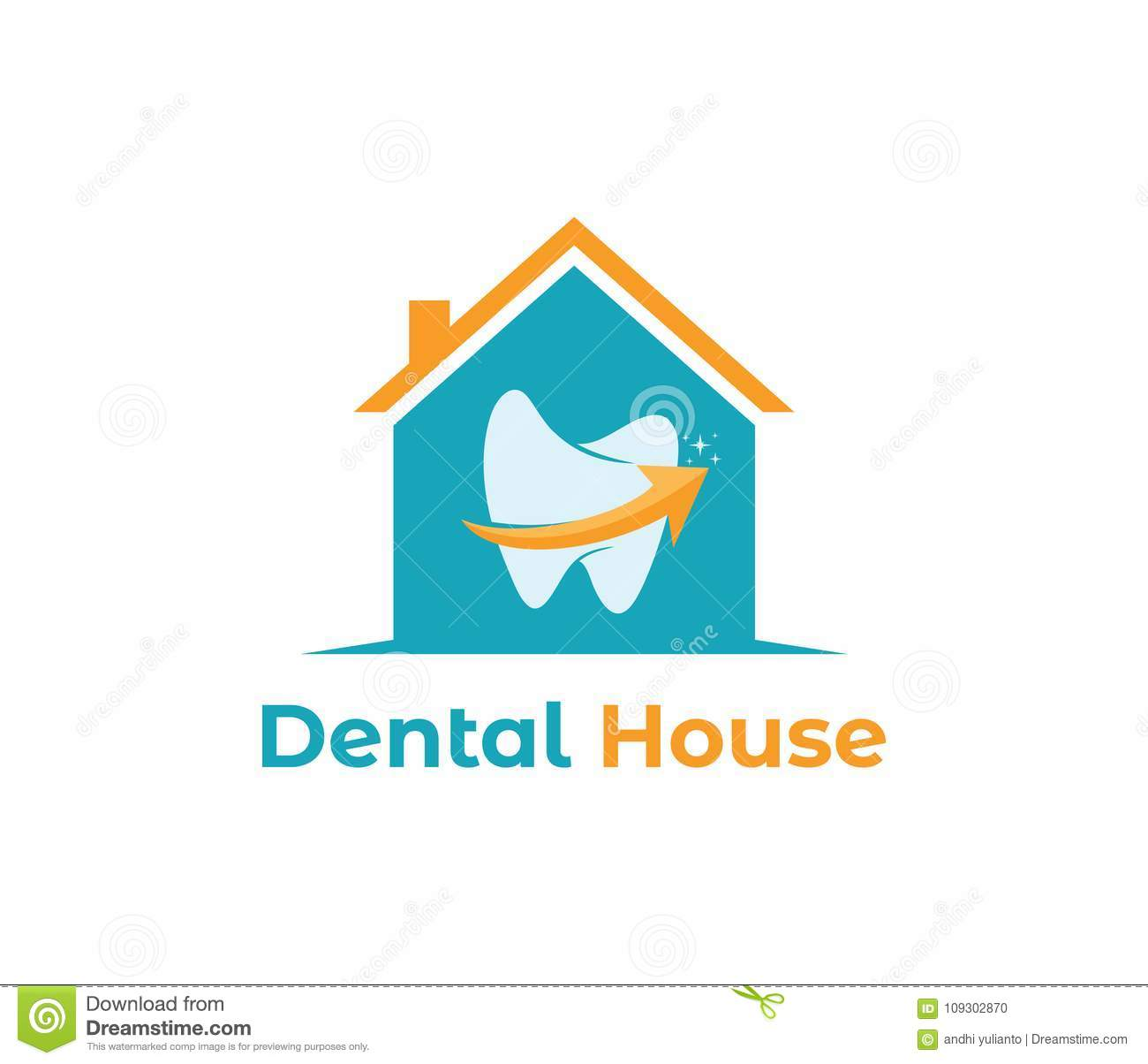 Vector Logo Design Of Medical Health Care House, Dental