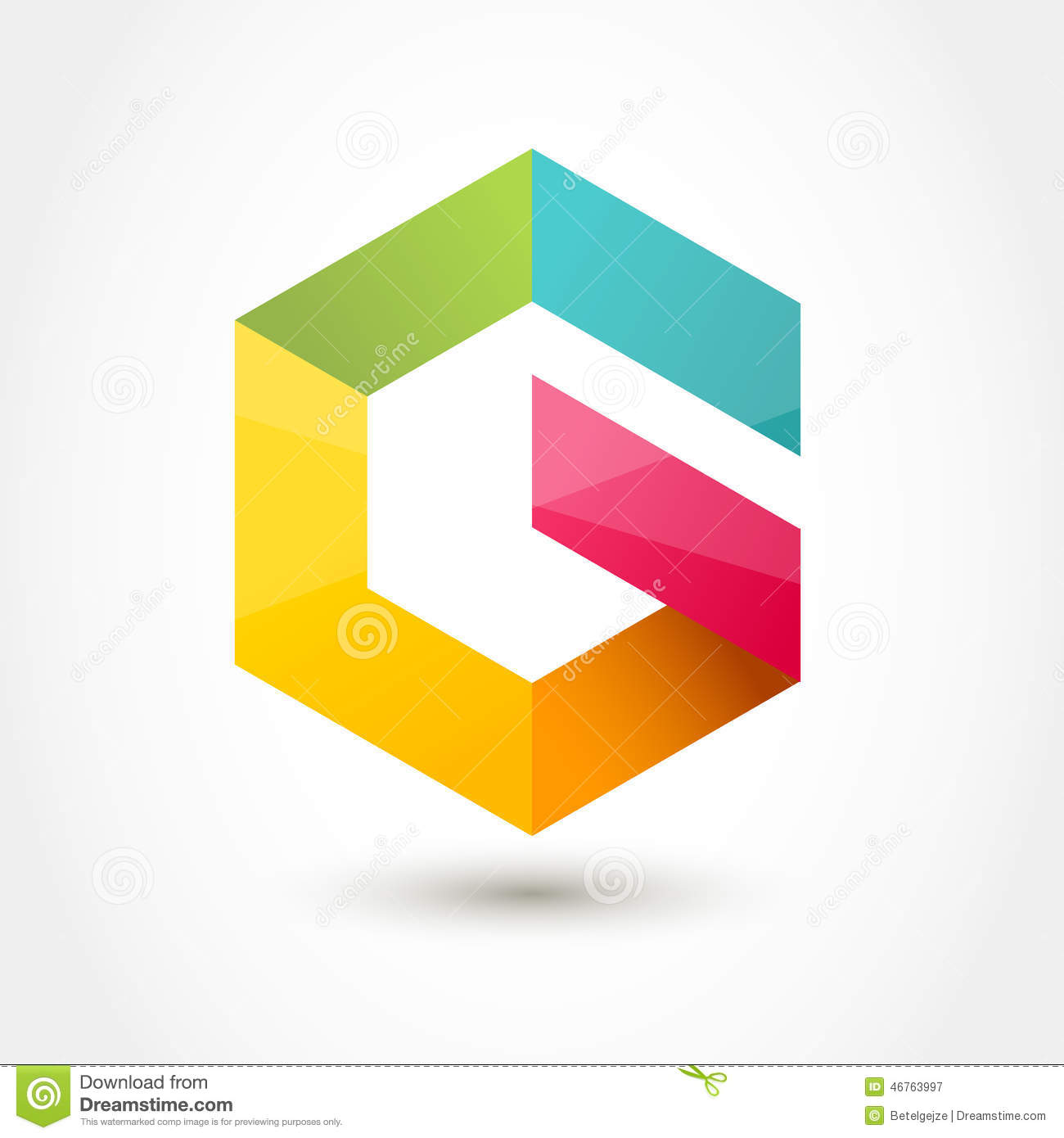 Vector Logo Design Template Colorful Hexagon Infinity Loop Shap