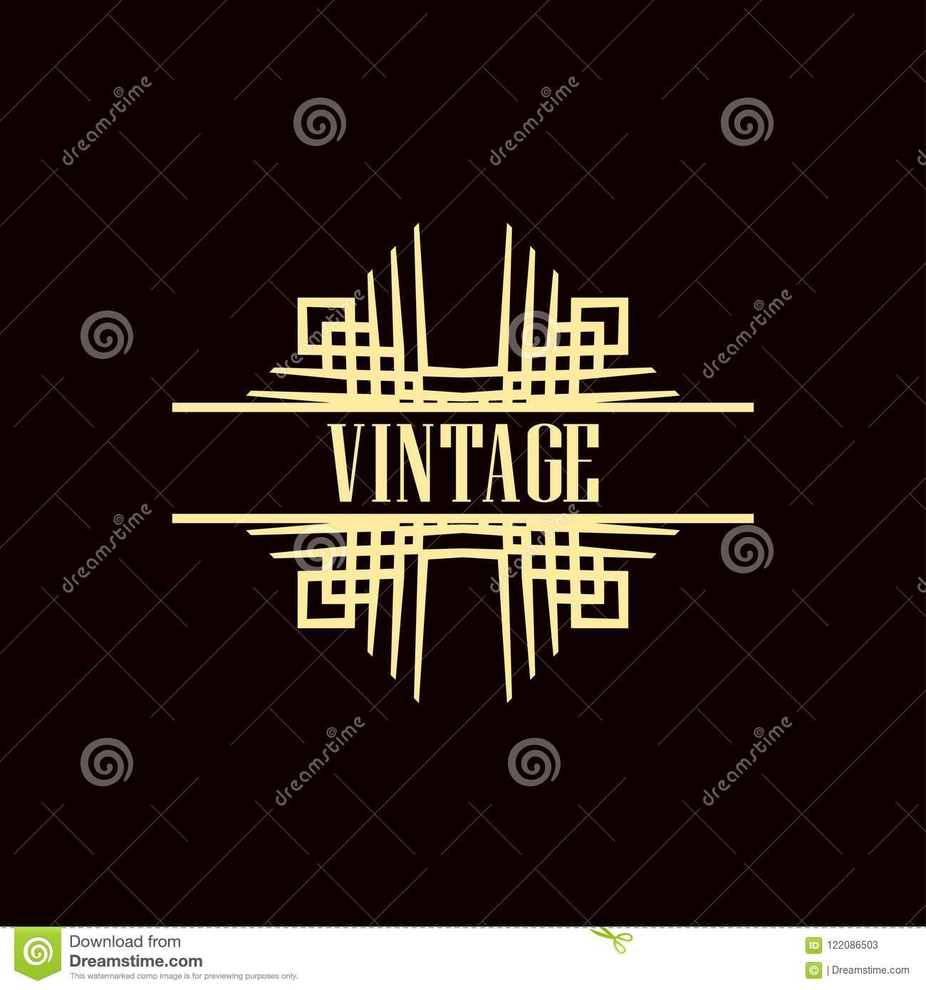 art deco logo stock vector illustration of banner ornamental