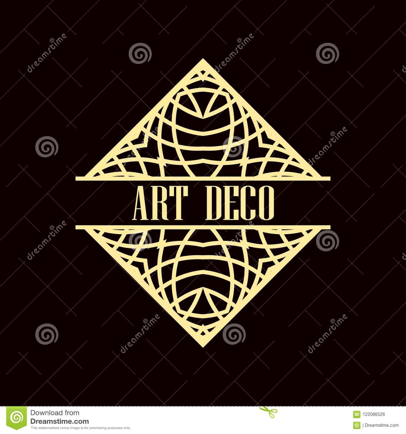 art deco logo stock vector illustration of gatsby emblem 122086526