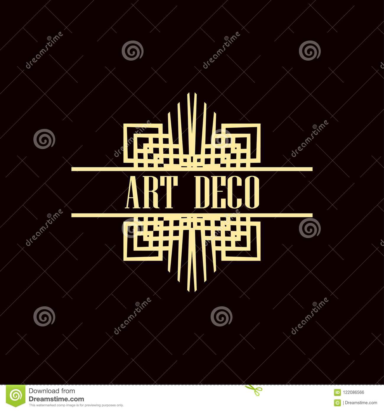 art deco logo stock vector illustration of banner hipster 122086566