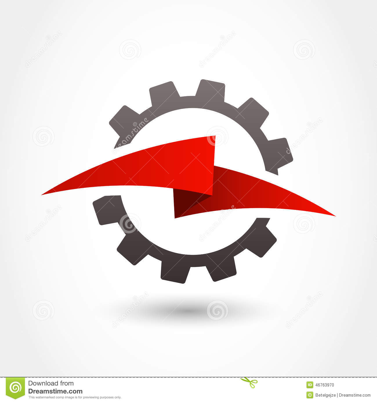 vector logo design template gear and lightning shape