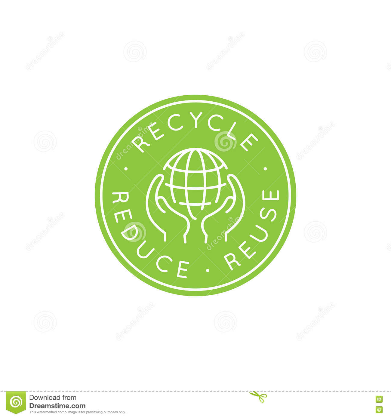 vector logo design template recycle and reuse reduce concept