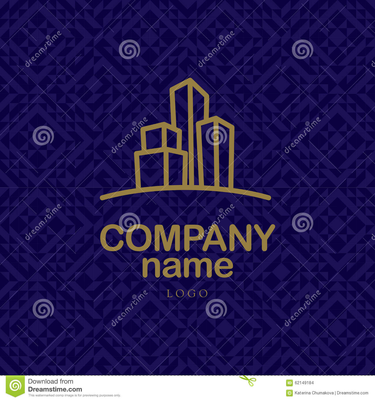 Vector logo design for urban building company and for Industrial design company