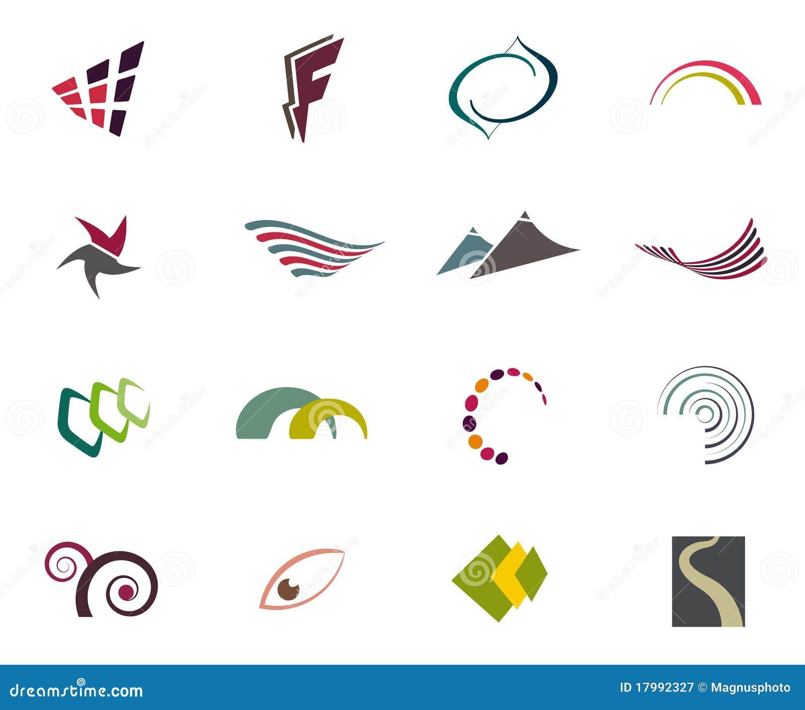 Vector logo elements royalty free stock photography Free eps editor