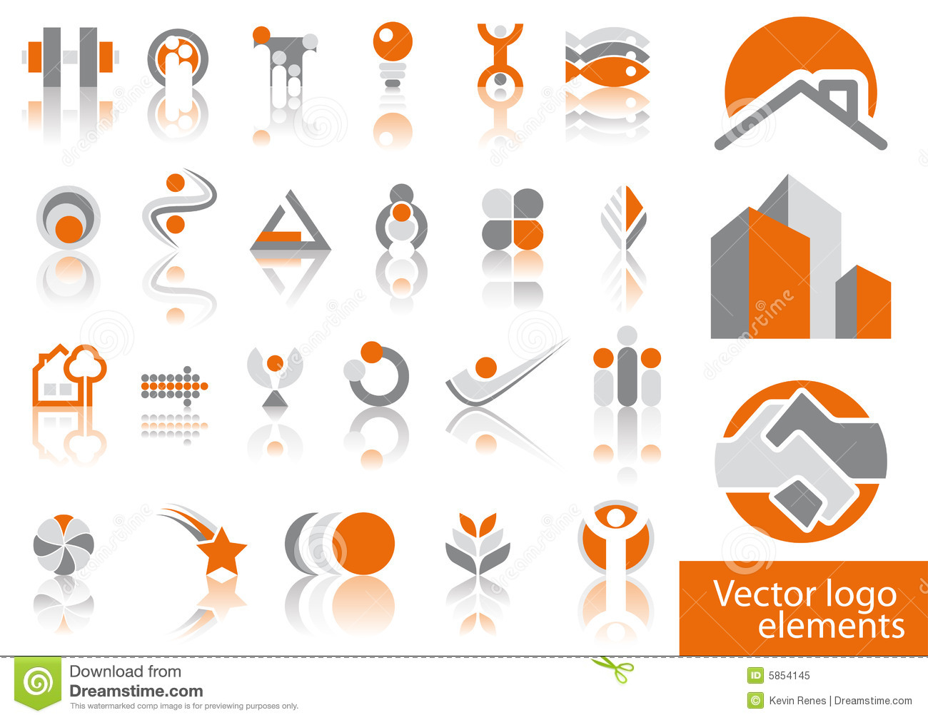 Vector Logo Elements Royalty Free Stock Photo - Image: 5854145
