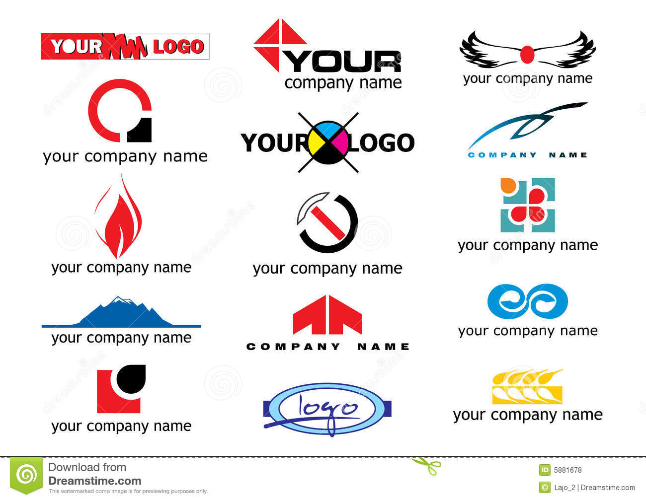 Vector Logo Elements Royalty Free Stock Photos - Image: 5881678