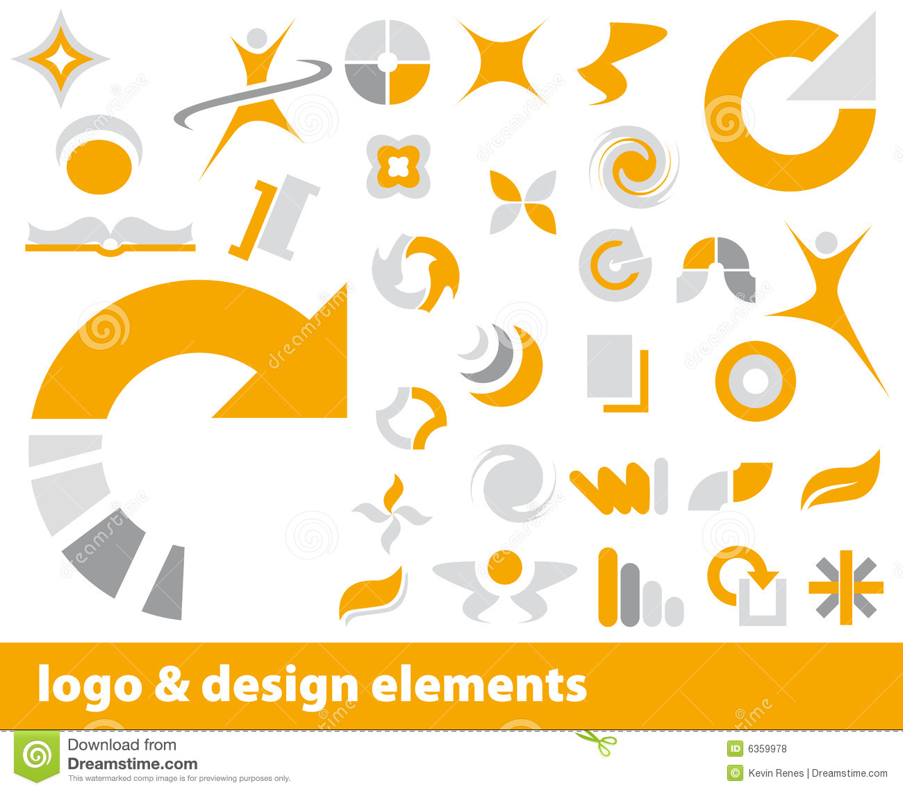 Vector Logo Elements Royalty Free Stock Photos - Image: 6359978