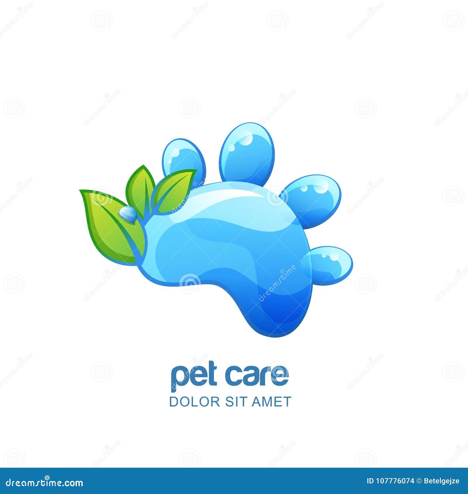 Vector Logo, Emblem, Label Design Elements For Pet Organic