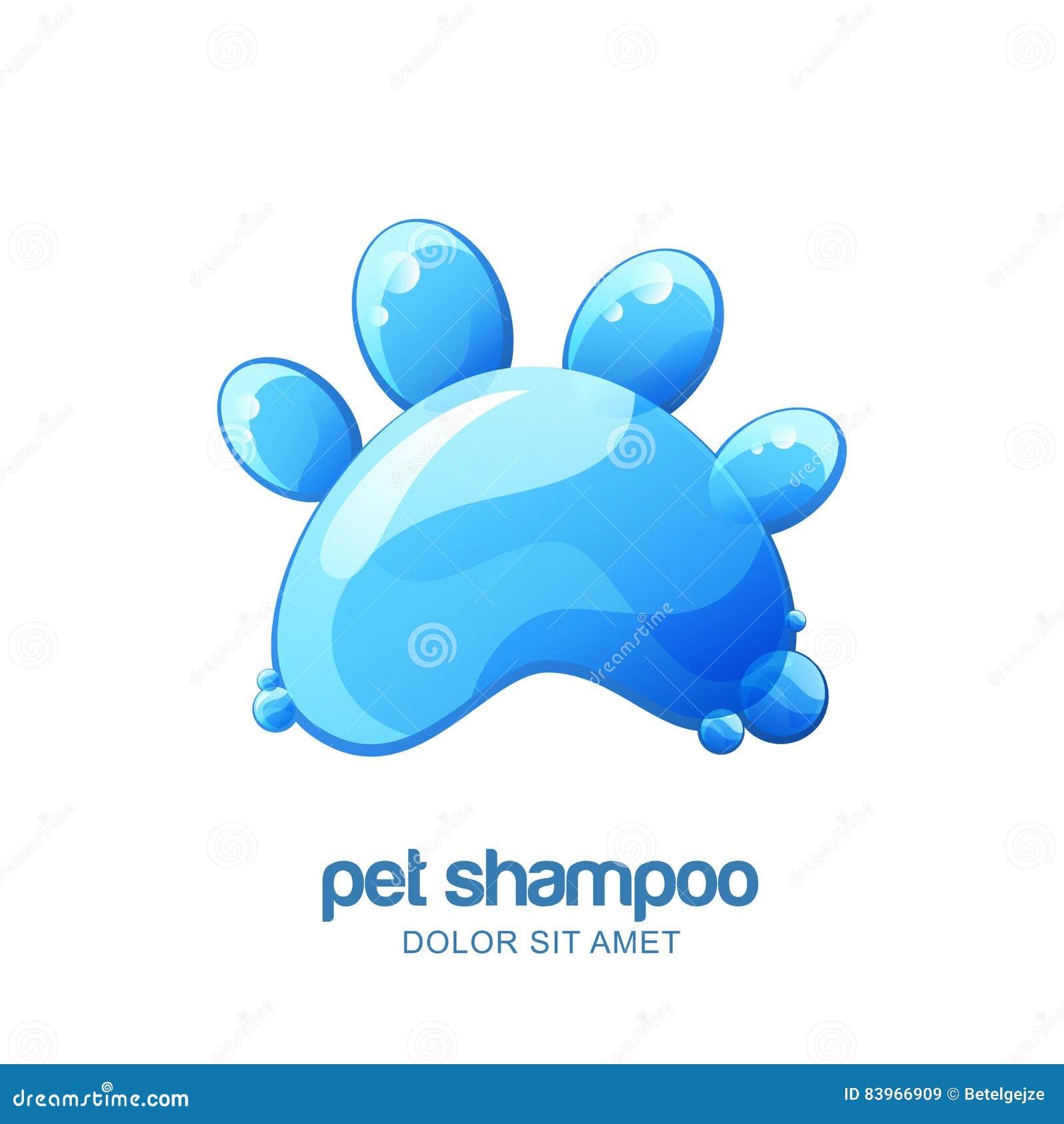 Vector Logo, Emblem, Label Design Elements For Pet Shampoo