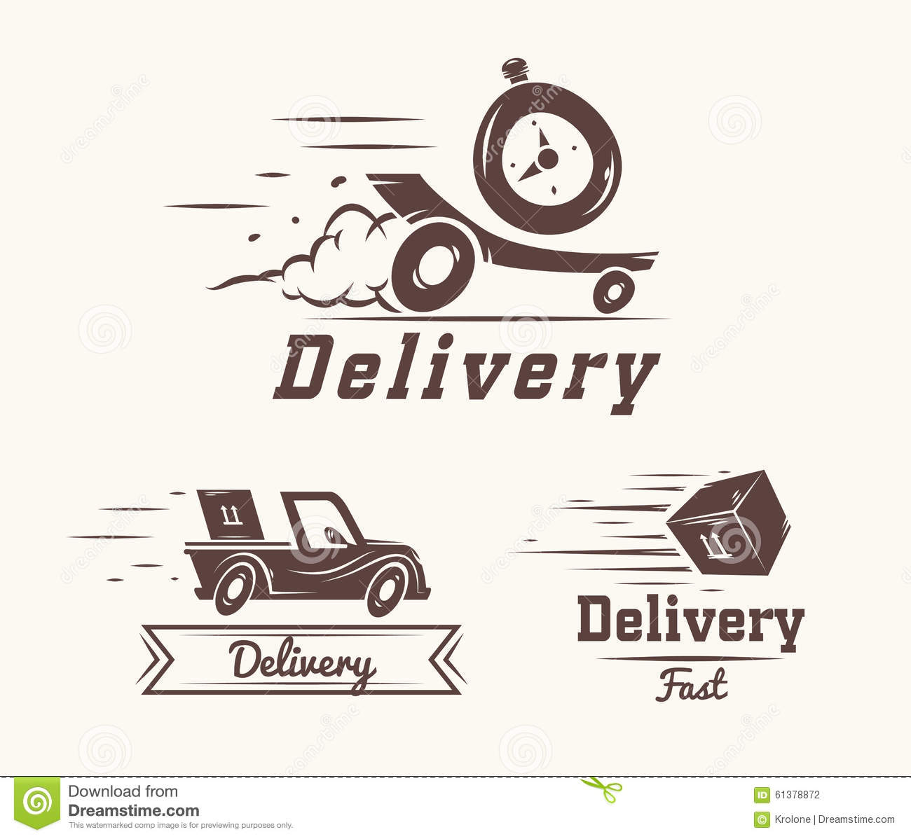 Vector logo of fast delivery watch car and box stock - Service a the design ...