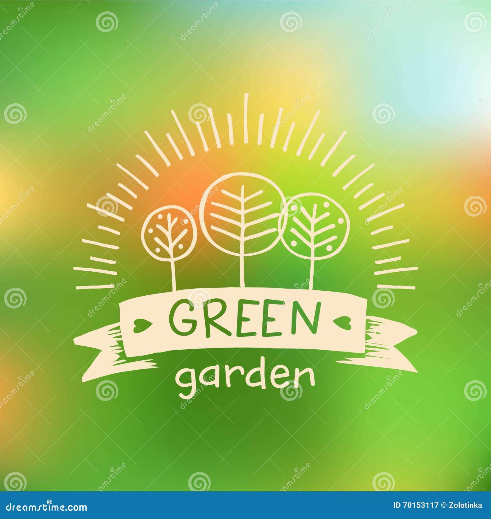 Vector Logo Green Garden.Logo Organic Food. Stock Vector ...