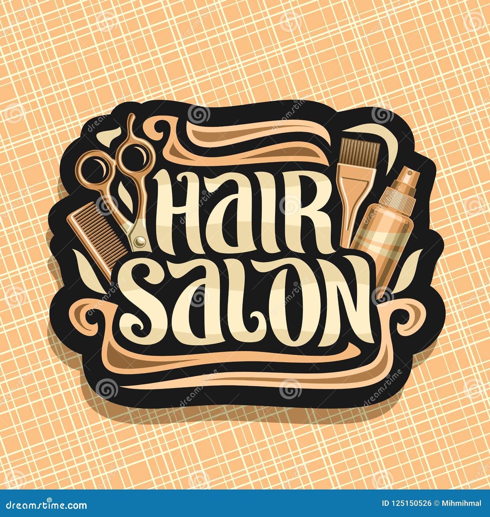 Vector logo for Hair Salon stock vector. Illustration of ...