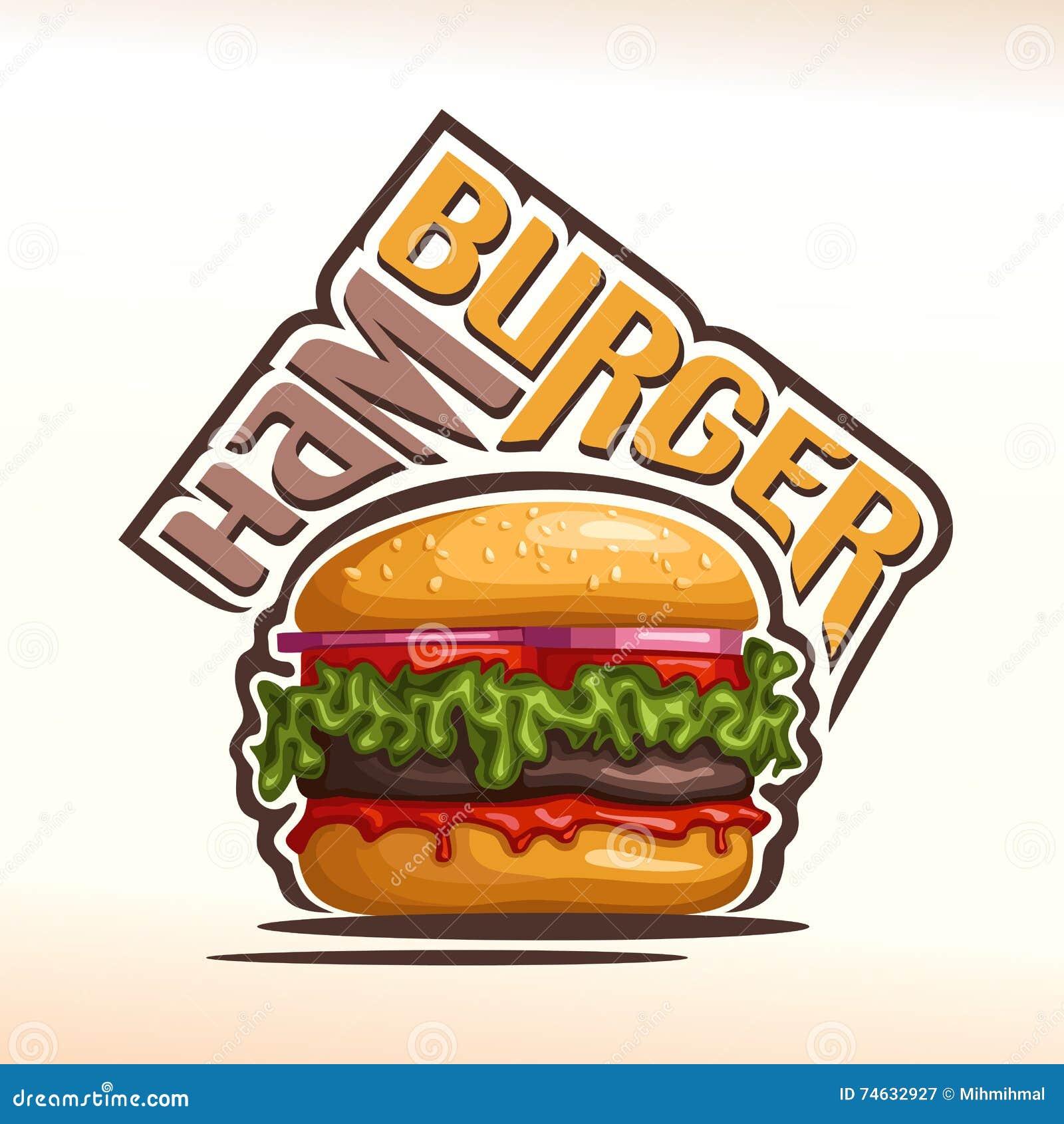 vector logo for hamburger stock vector illustration of