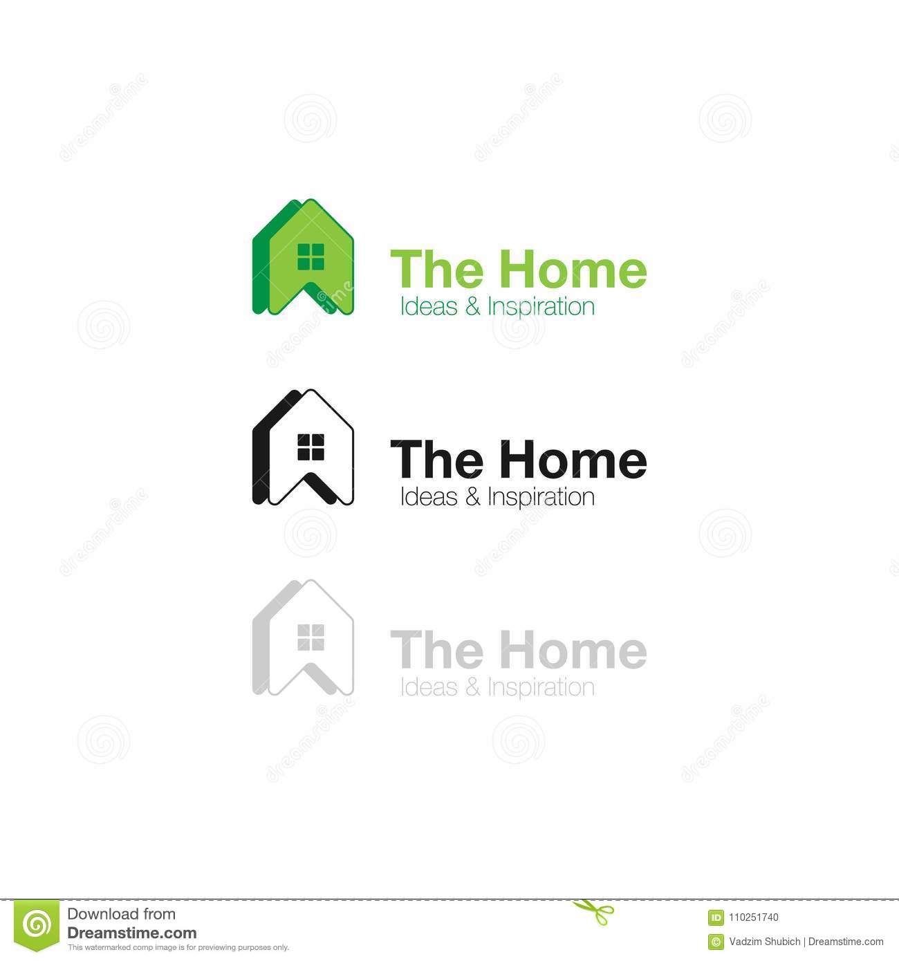 Vector Logo Home Ideas And Inspiration. Abstract Concept Icon For ...
